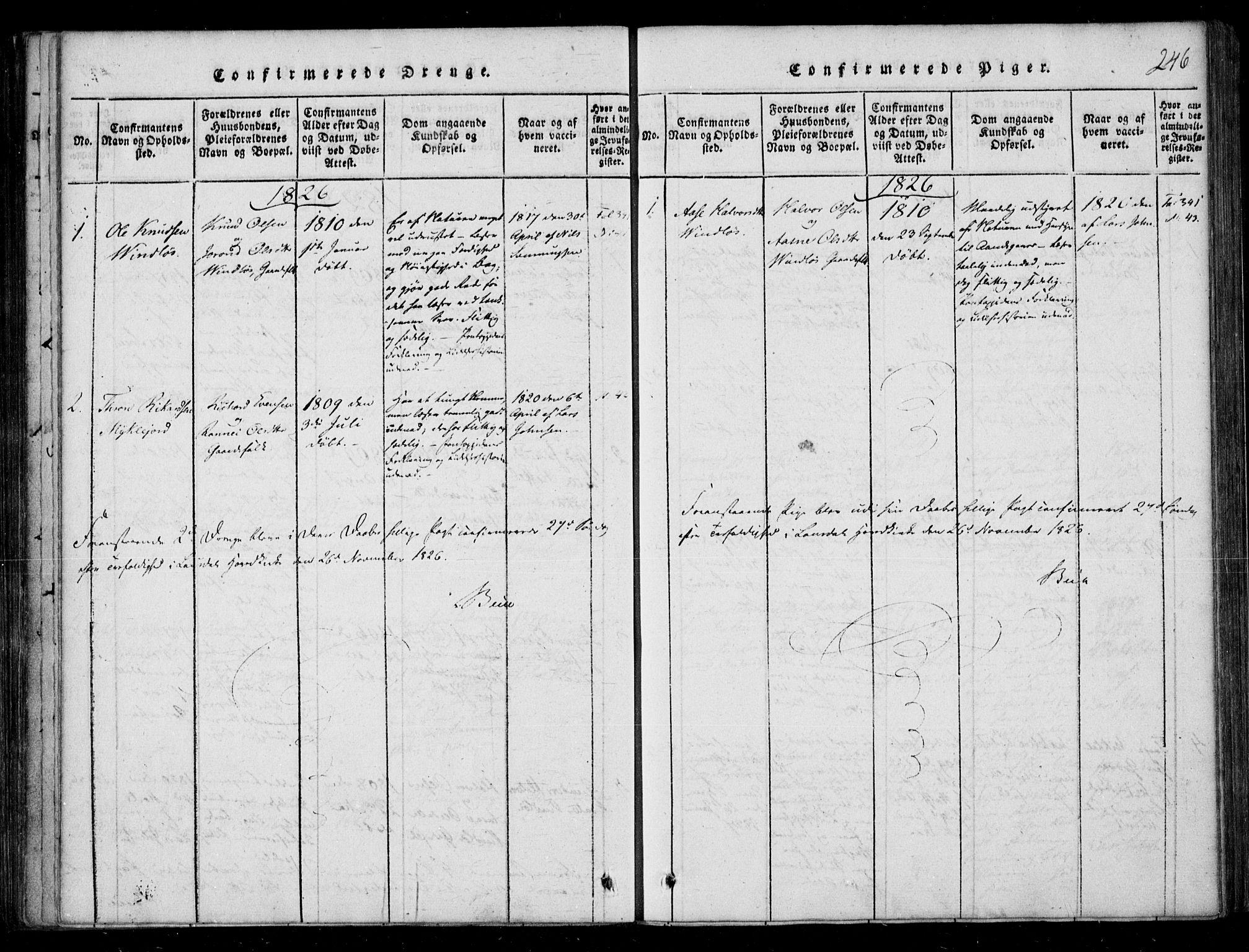 SAKO, Lårdal kirkebøker, F/Fb/L0001: Ministerialbok nr. II 1, 1815-1860, s. 246