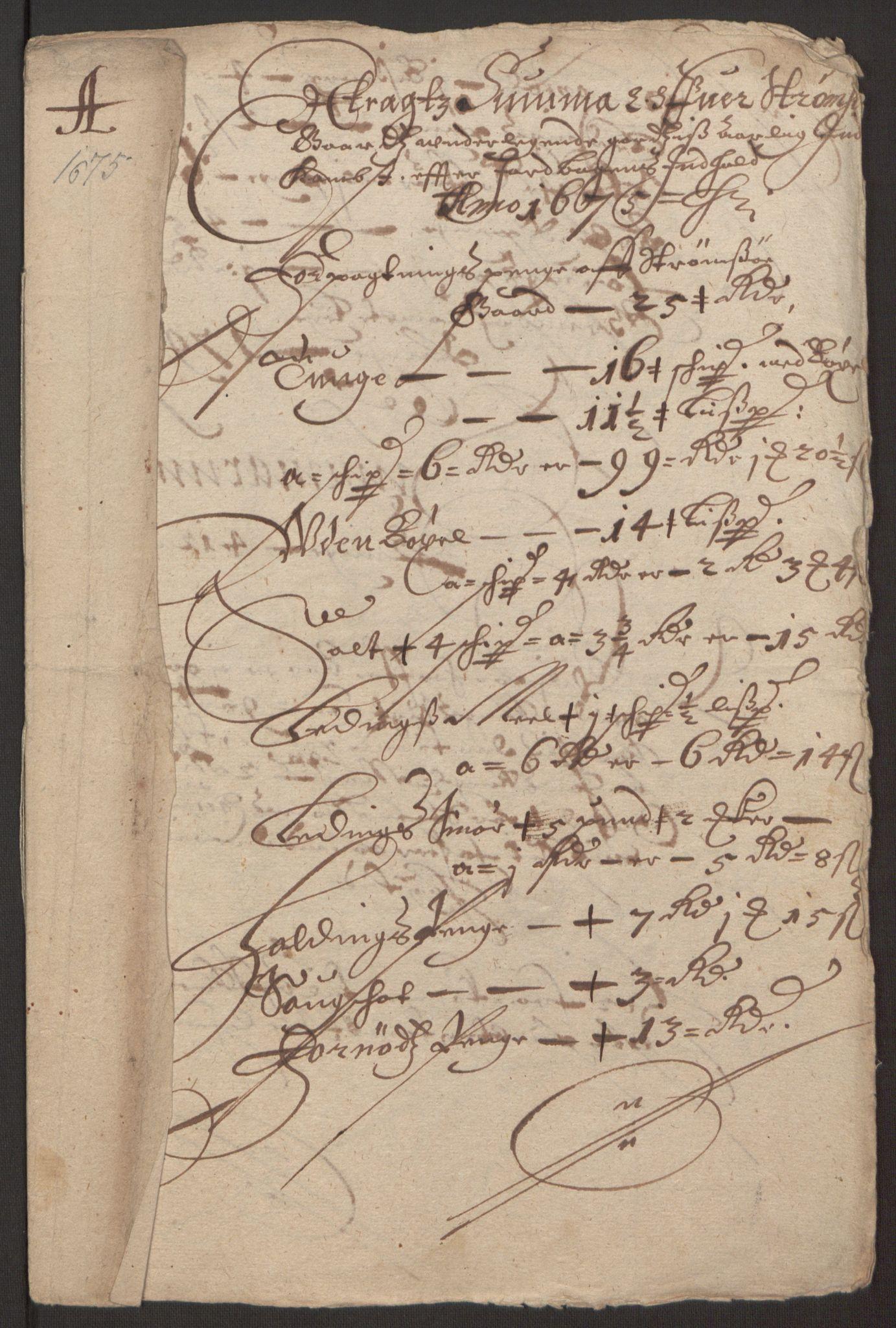 RA, Rentekammeret inntil 1814, Reviderte regnskaper, Fogderegnskap, R32/L1844: Fogderegnskap Jarlsberg grevskap, 1674-1675, s. 401