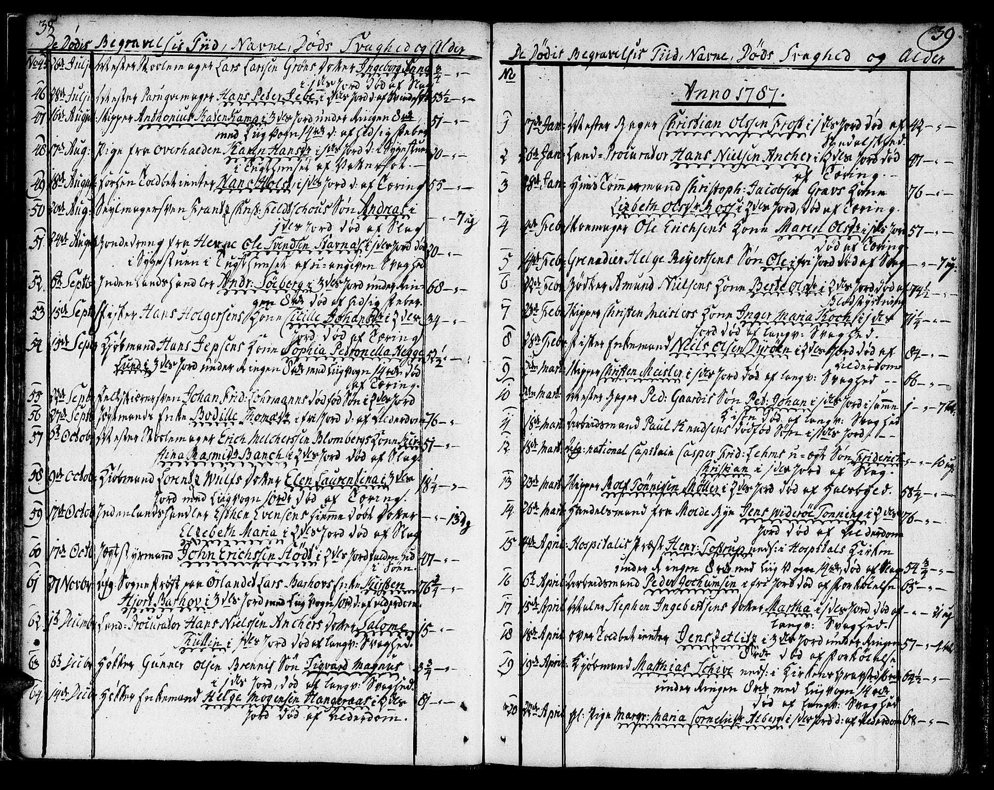 SAT, Ministerialprotokoller, klokkerbøker og fødselsregistre - Sør-Trøndelag, 602/L0106: Ministerialbok nr. 602A04, 1774-1814, s. 38-39