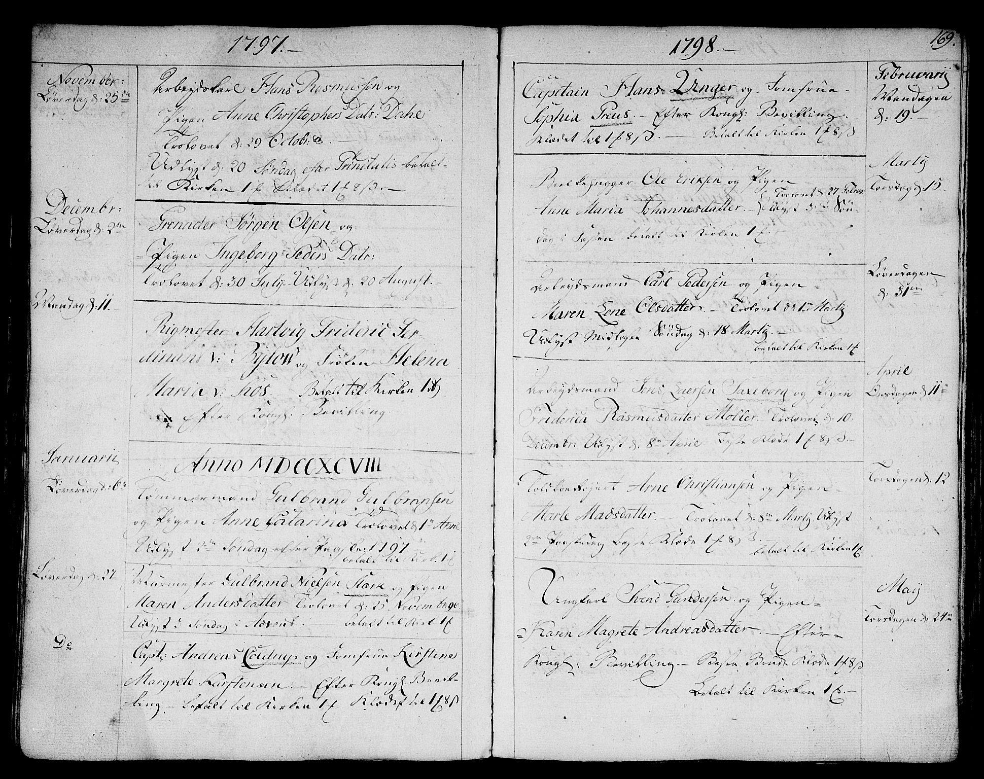 SAKO, Strømsø kirkebøker, F/Fa/L0010: Ministerialbok nr. I 10, 1792-1822, s. 169