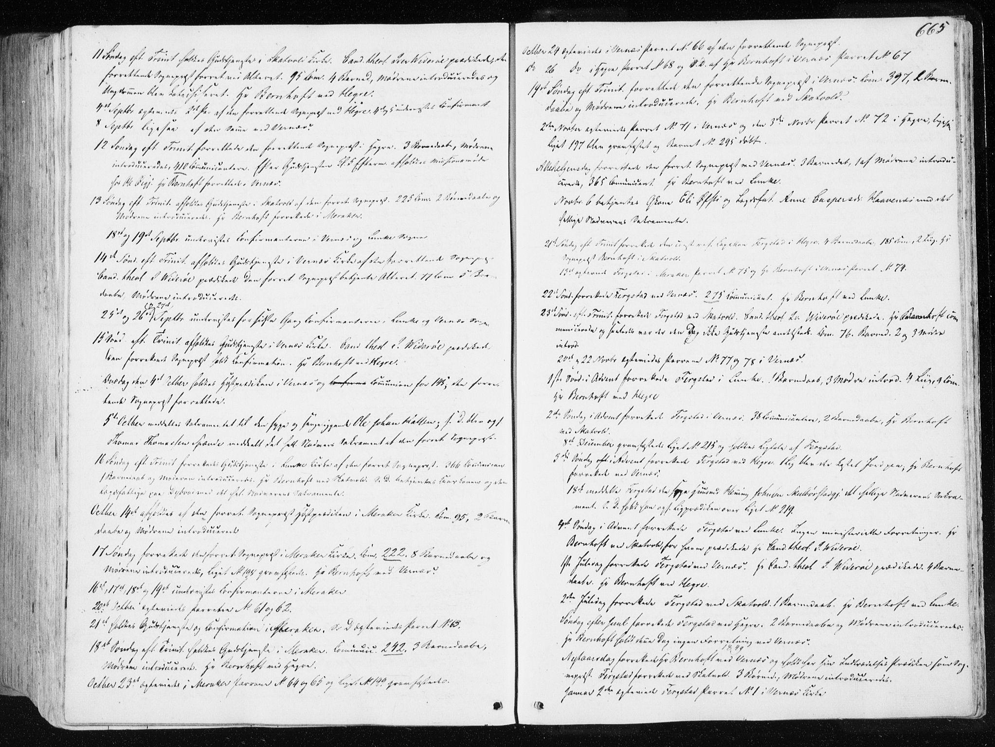 SAT, Ministerialprotokoller, klokkerbøker og fødselsregistre - Nord-Trøndelag, 709/L0074: Ministerialbok nr. 709A14, 1845-1858, s. 665