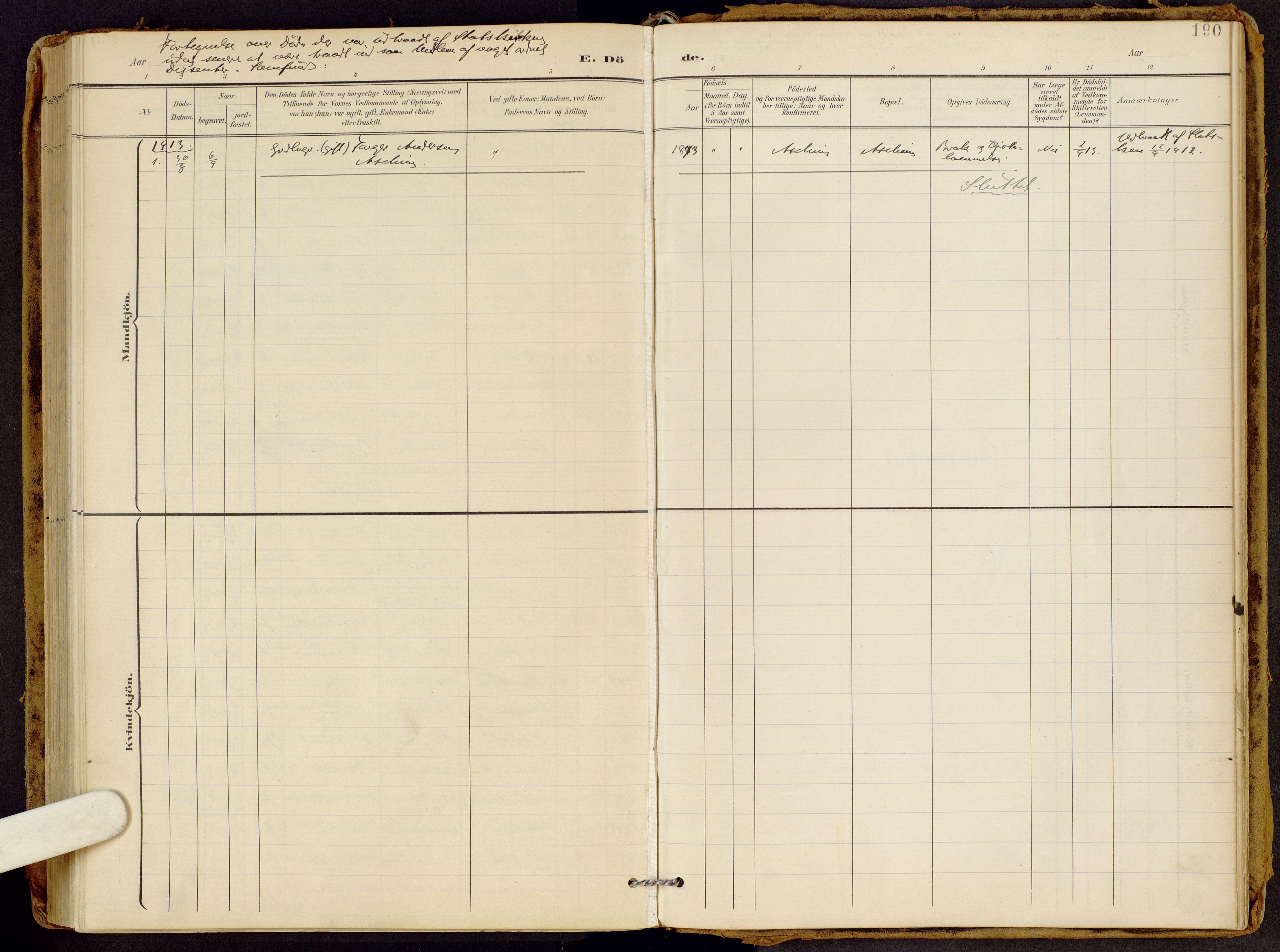 SAH, Brandbu prestekontor, Ministerialbok nr. 2, 1899-1914, s. 190