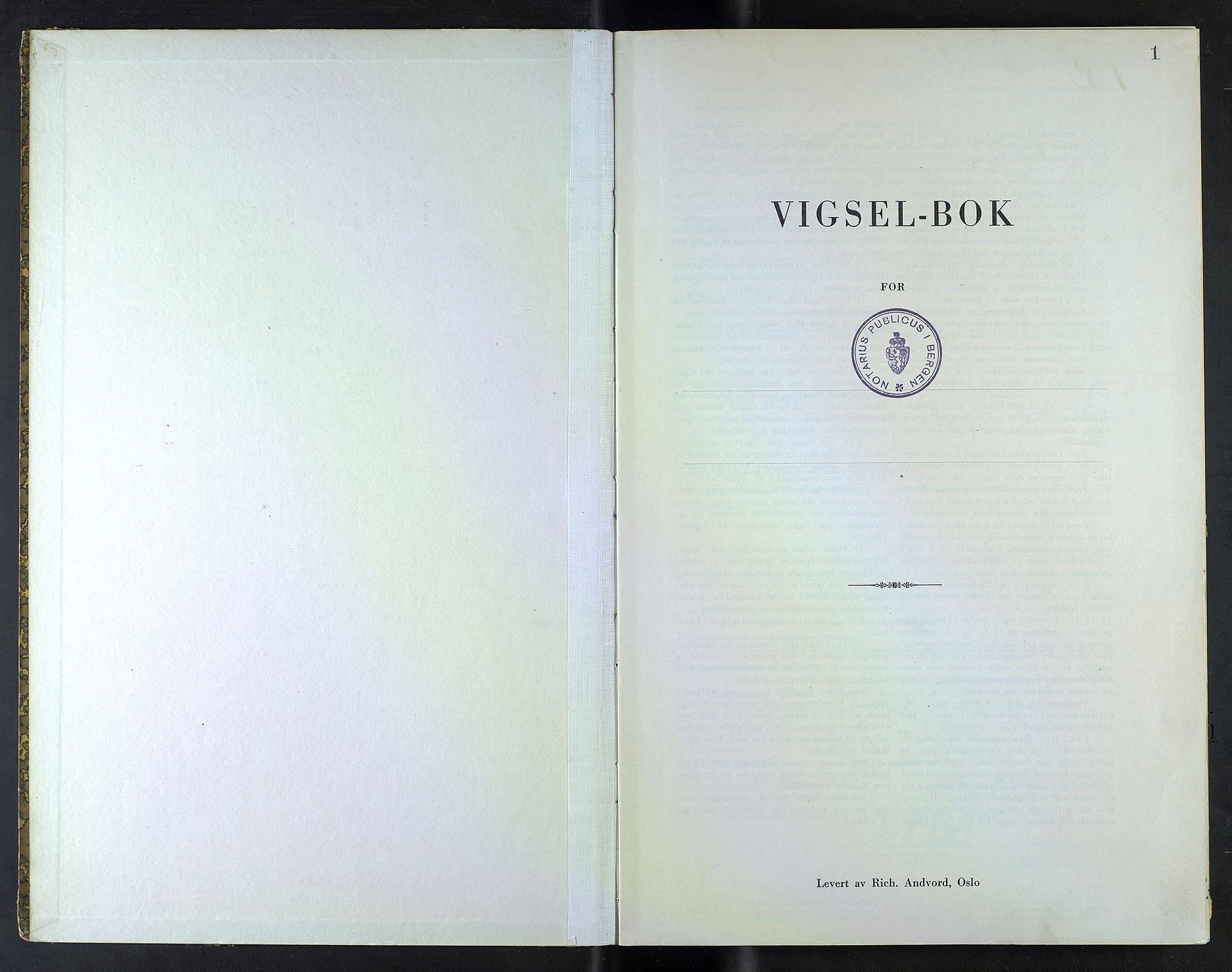 SAB, Bergen byfogd og byskriver*, 1942-1943, s. 1
