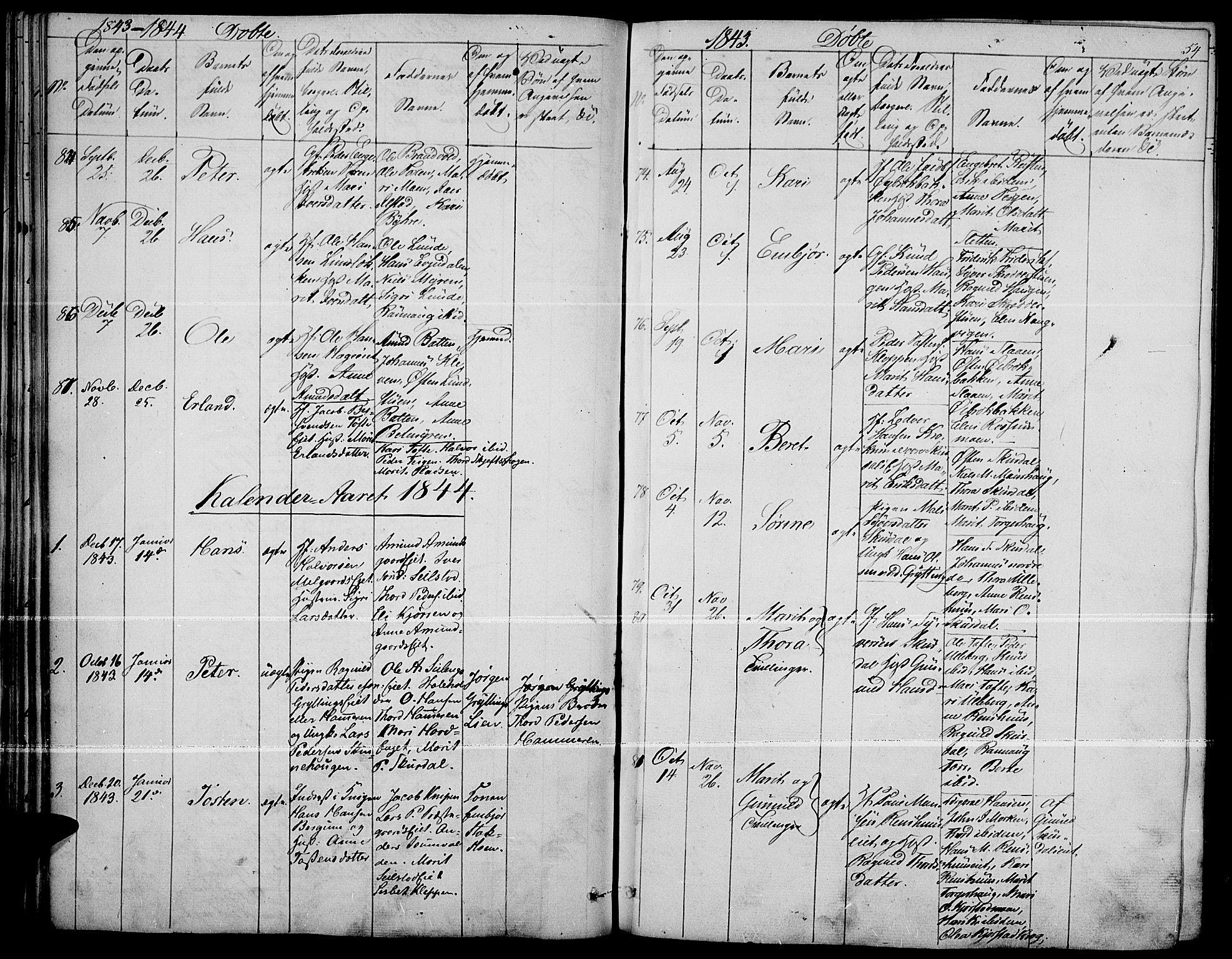 SAH, Fron prestekontor, H/Ha/Haa/L0004: Ministerialbok nr. 4, 1839-1848, s. 54