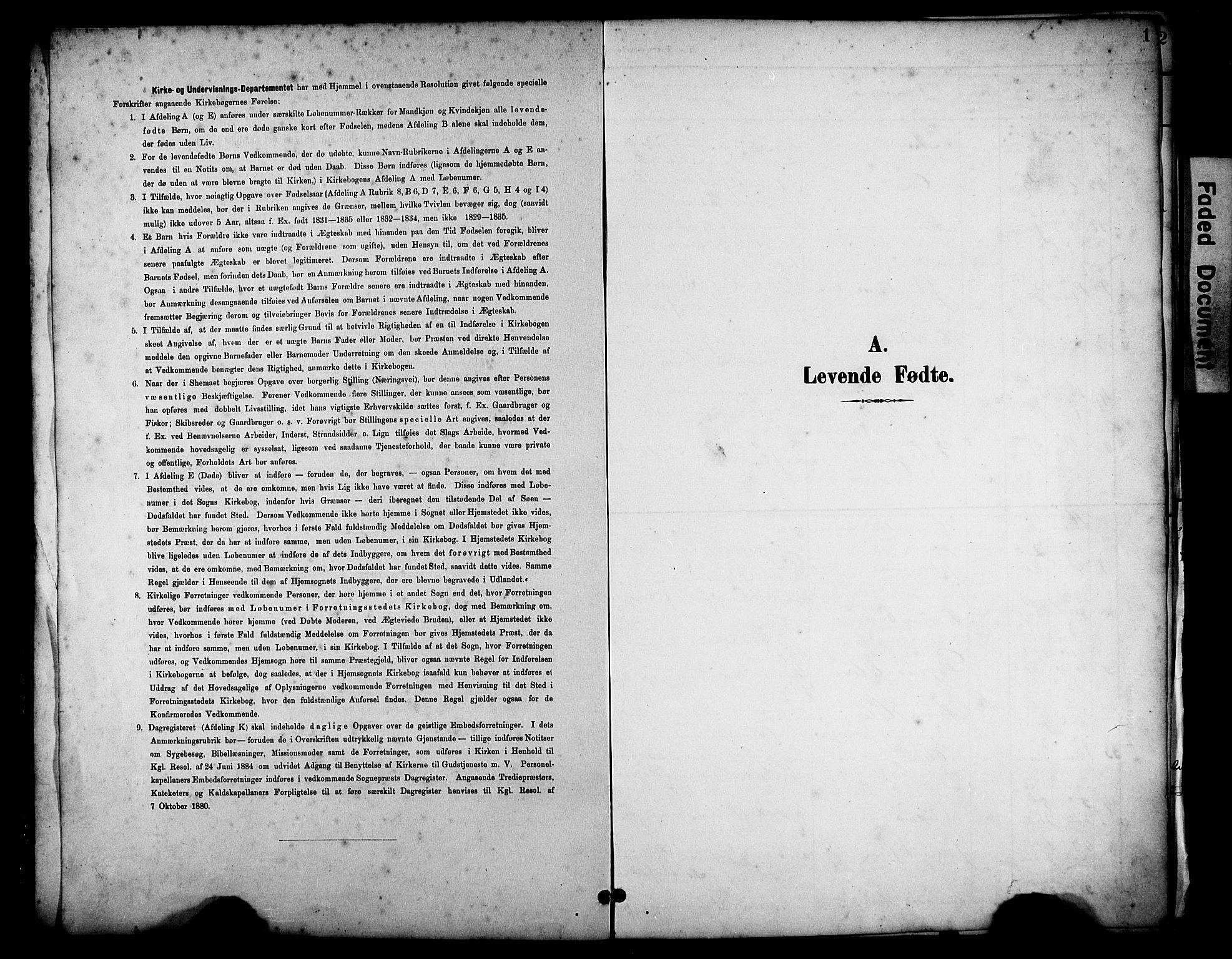 SAST, Haugesund sokneprestkontor, H/Ha/Hab/L0005: Klokkerbok nr. B 5, 1894-1908, s. 1