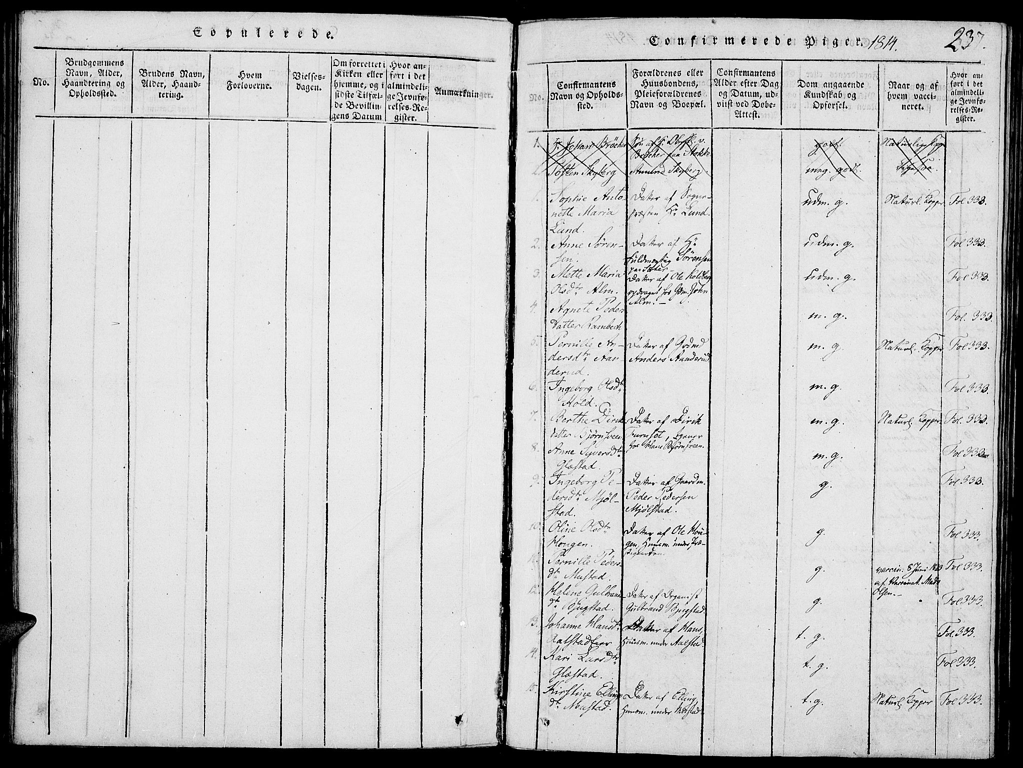 SAH, Vardal prestekontor, H/Ha/Haa/L0004: Ministerialbok nr. 4, 1814-1831, s. 237