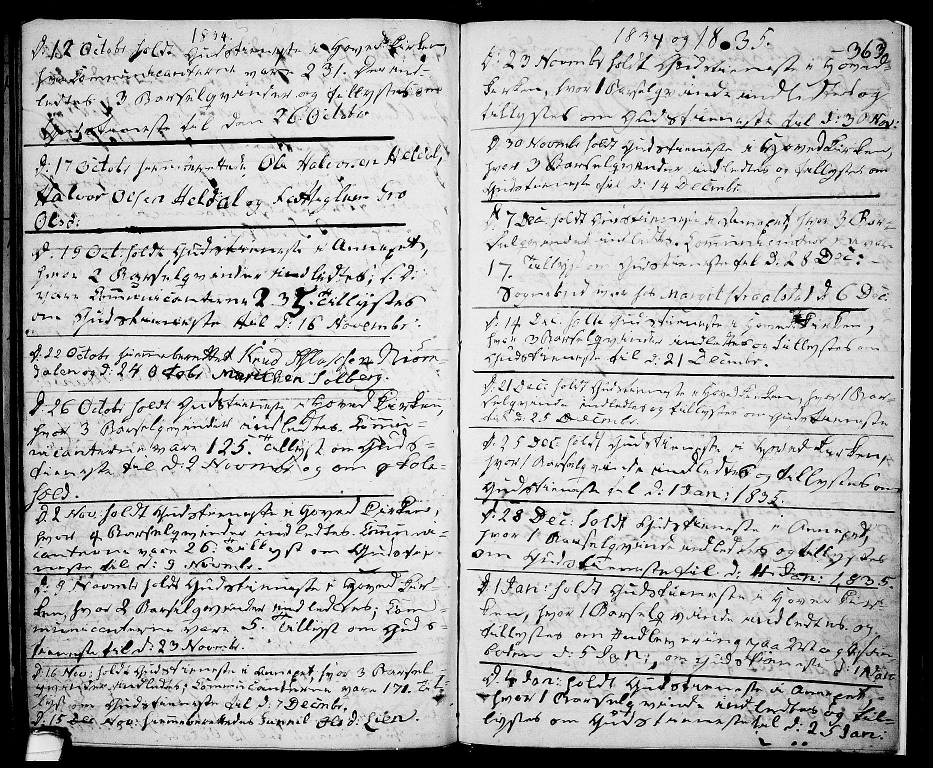 SAKO, Drangedal kirkebøker, F/Fa/L0006: Ministerialbok nr. 6, 1831-1837, s. 363