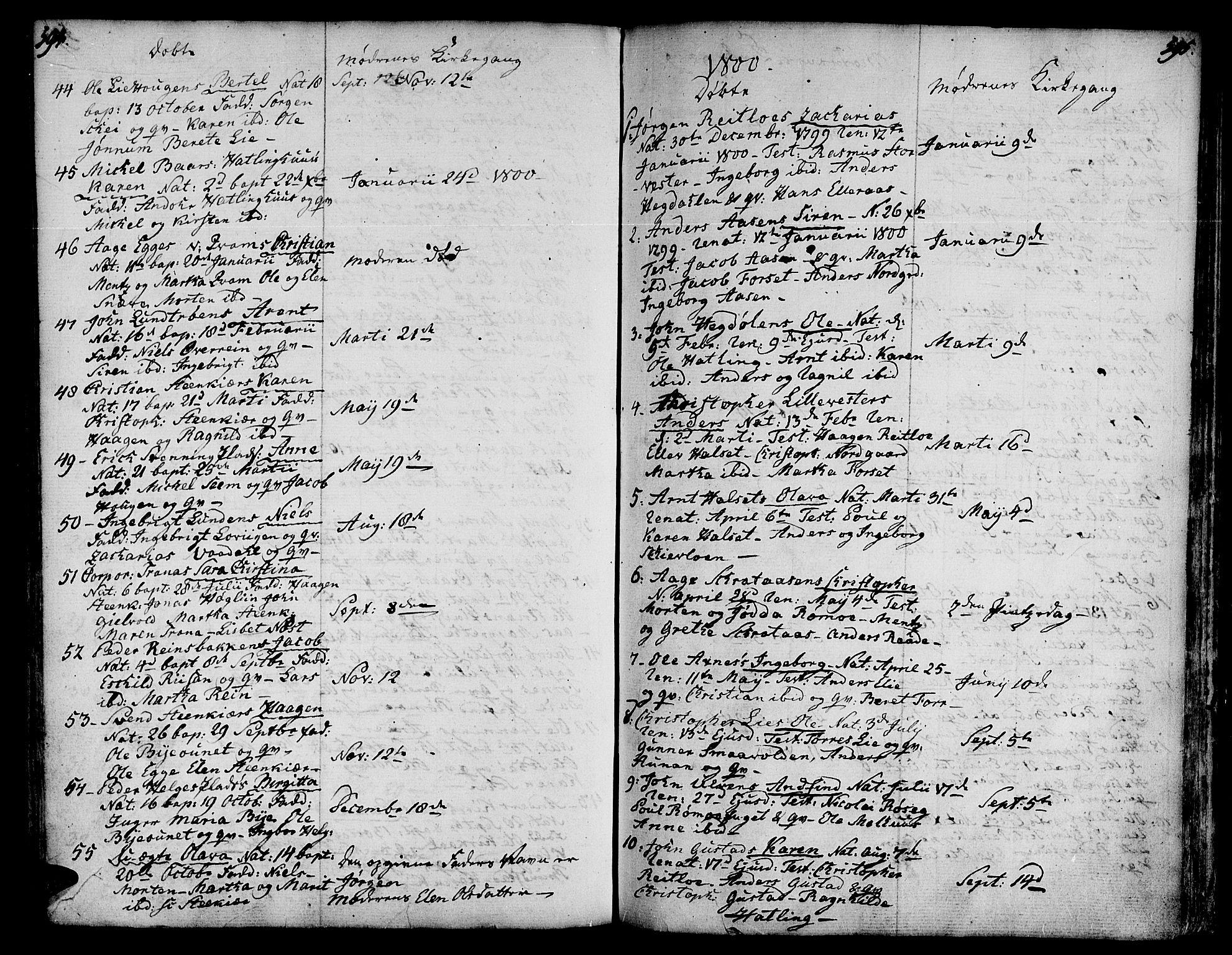 SAT, Ministerialprotokoller, klokkerbøker og fødselsregistre - Nord-Trøndelag, 746/L0440: Ministerialbok nr. 746A02, 1760-1815, s. 594-595