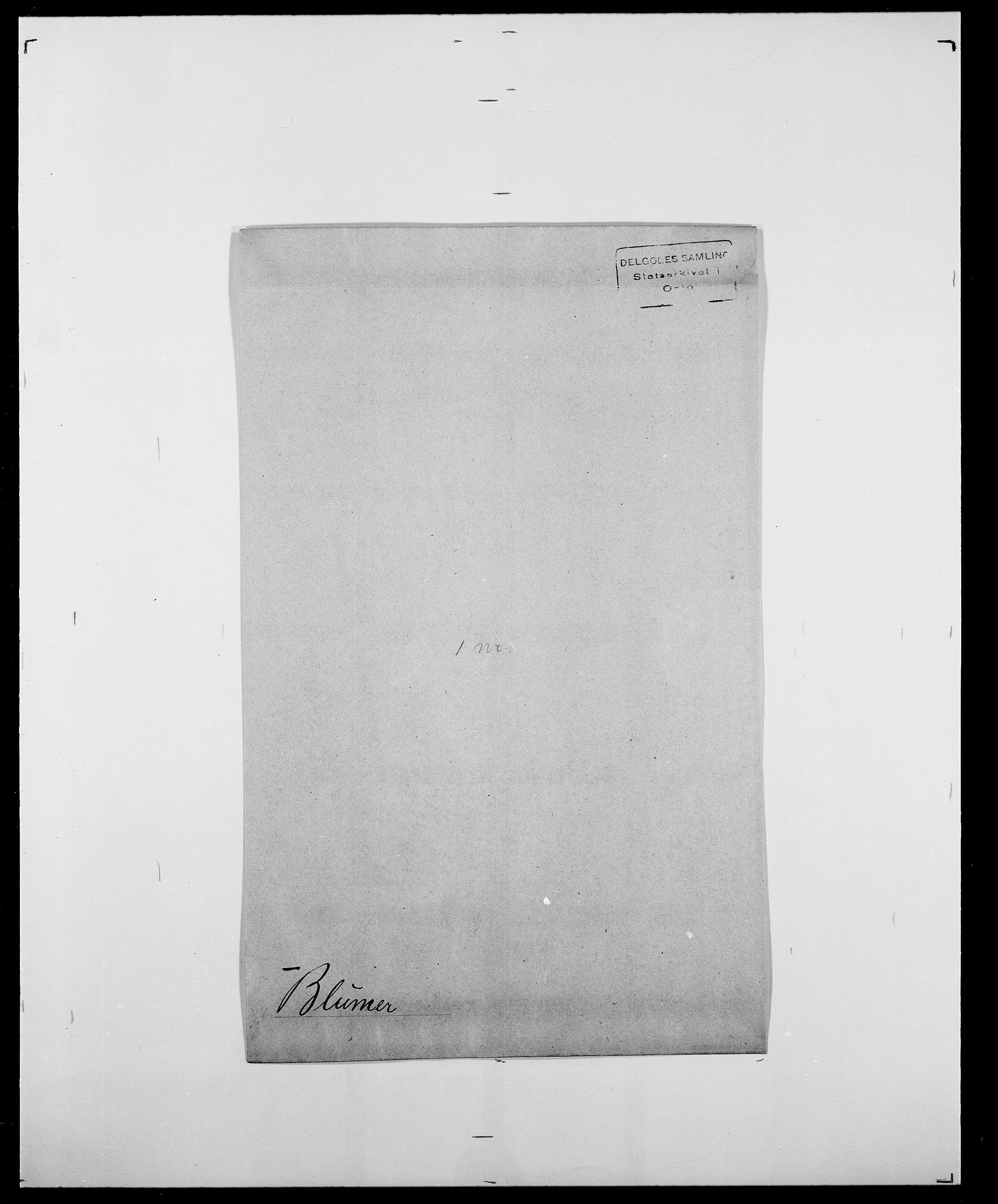 SAO, Delgobe, Charles Antoine - samling, D/Da/L0004: Bergendahl - Blære, s. 796