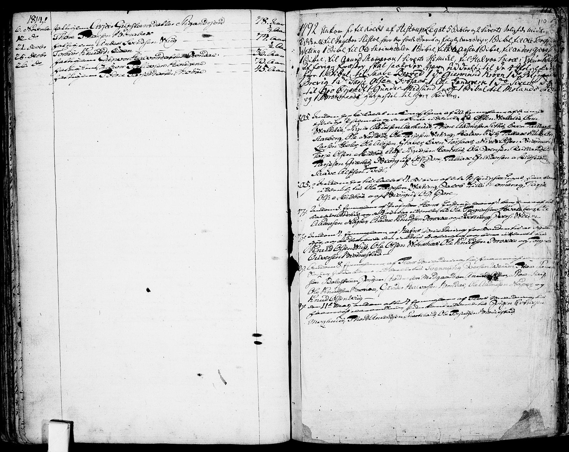 SAKO, Fyresdal kirkebøker, F/Fa/L0002: Ministerialbok nr. I 2, 1769-1814, s. 110