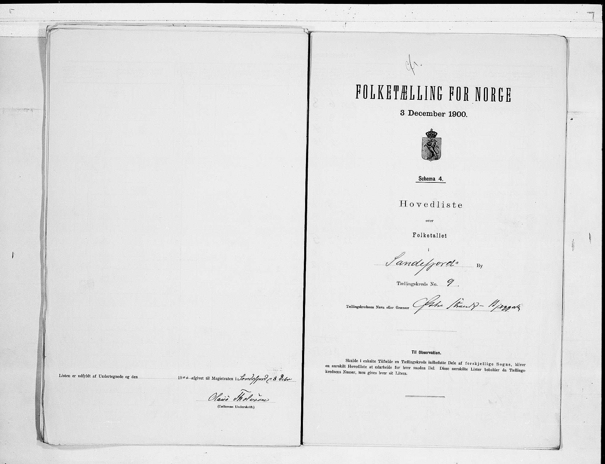 RA, Folketelling 1900 for 0706 Sandefjord kjøpstad, 1900, s. 20