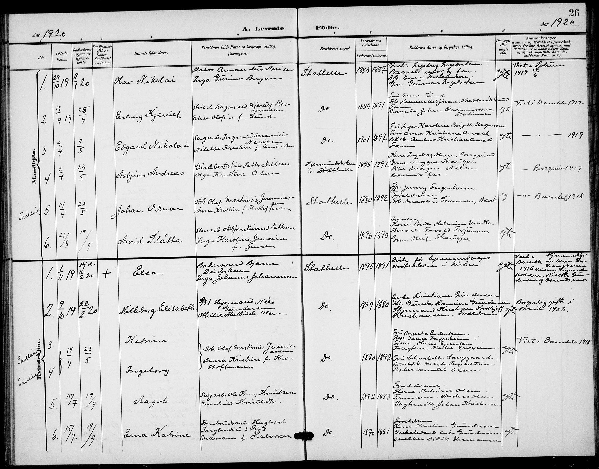 SAKO, Bamble kirkebøker, G/Gb/L0002: Klokkerbok nr. II 2, 1900-1925, s. 26