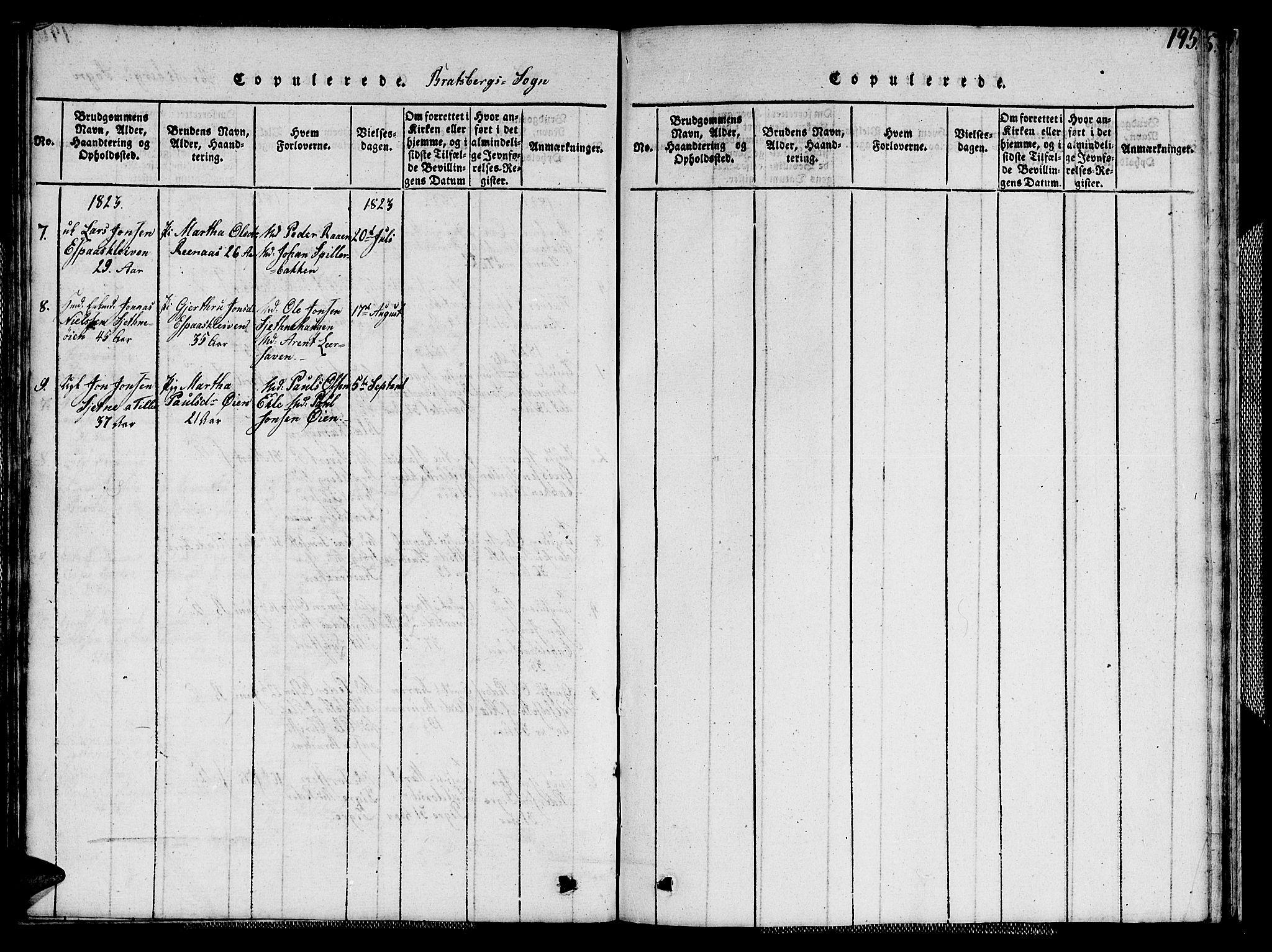 SAT, Ministerialprotokoller, klokkerbøker og fødselsregistre - Sør-Trøndelag, 608/L0336: Klokkerbok nr. 608C02, 1817-1827, s. 195