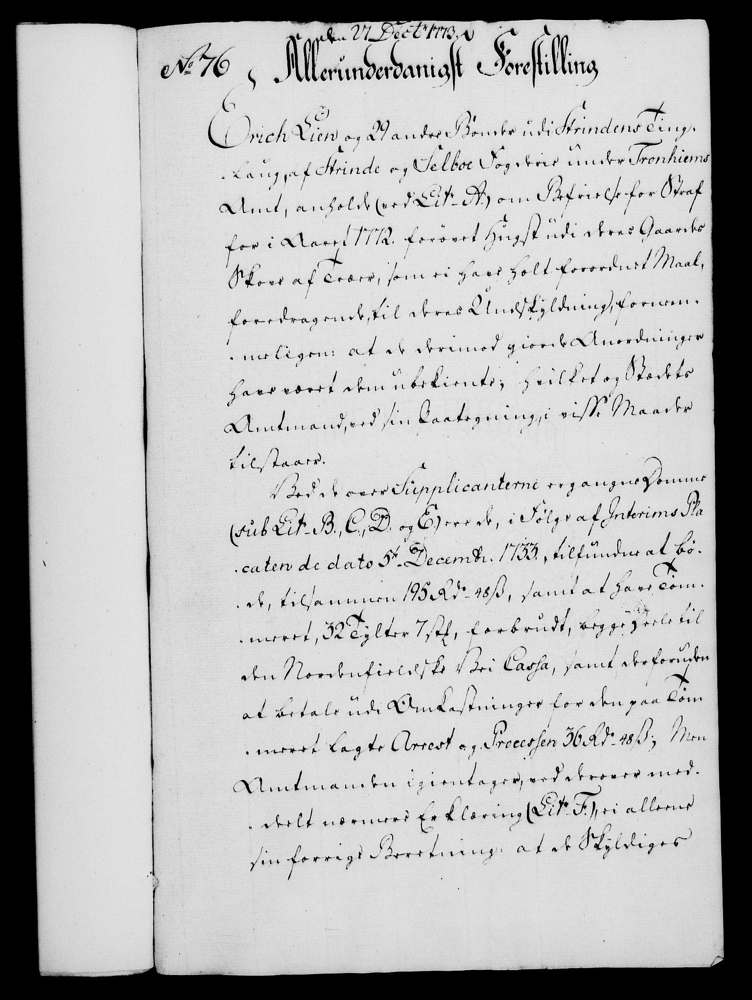 RA, Rentekammeret, Kammerkanselliet, G/Gf/Gfa/L0055: Norsk relasjons- og resolusjonsprotokoll (merket RK 52.55), 1773, s. 278