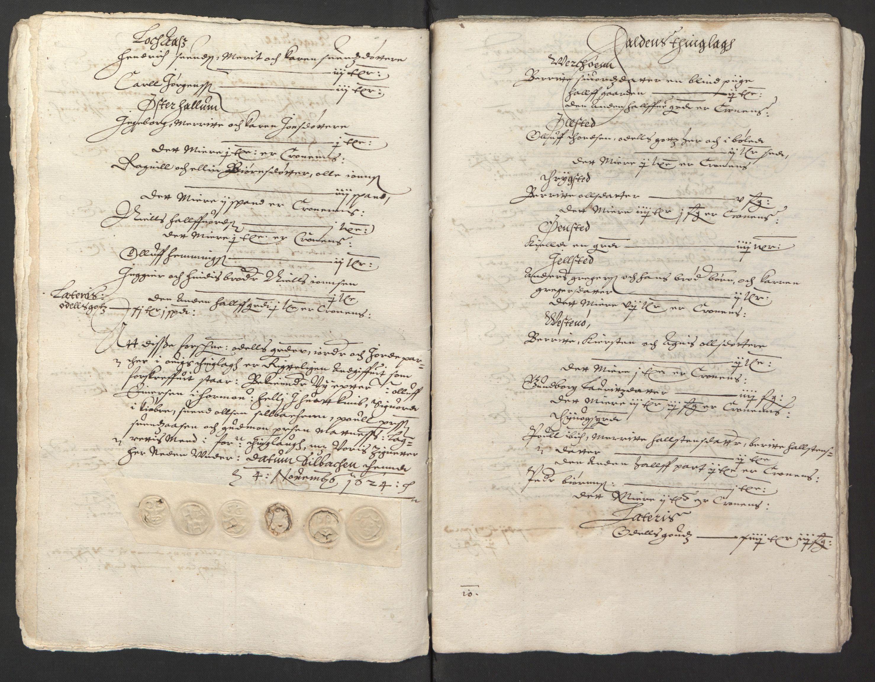 RA, Stattholderembetet 1572-1771, Ek/L0013: Jordebøker til utlikning av rosstjeneste 1624-1626:, 1624-1625, s. 105
