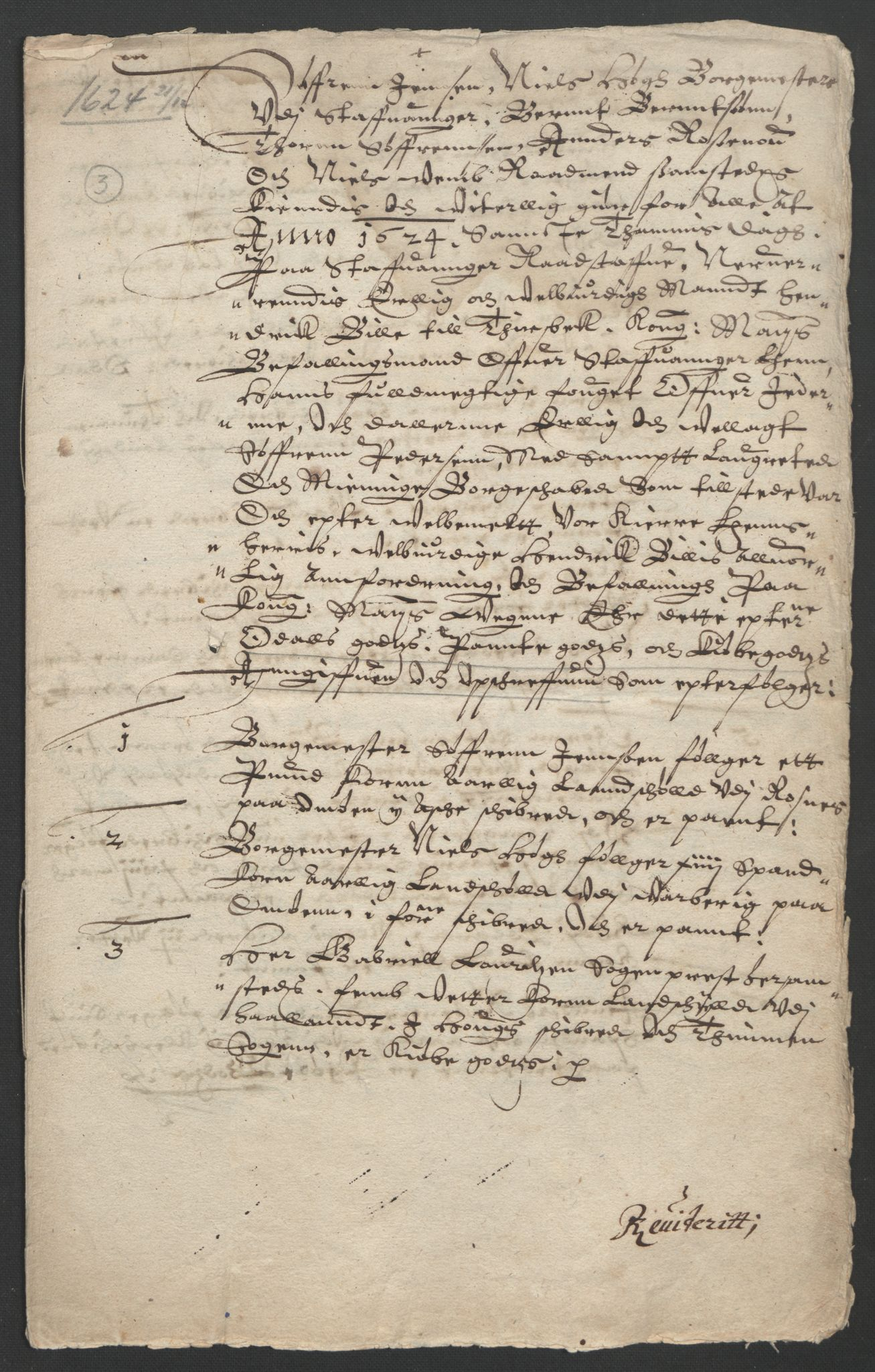 RA, Stattholderembetet 1572-1771, Ek/L0010: Jordebøker til utlikning av rosstjeneste 1624-1626:, 1624-1626, s. 61