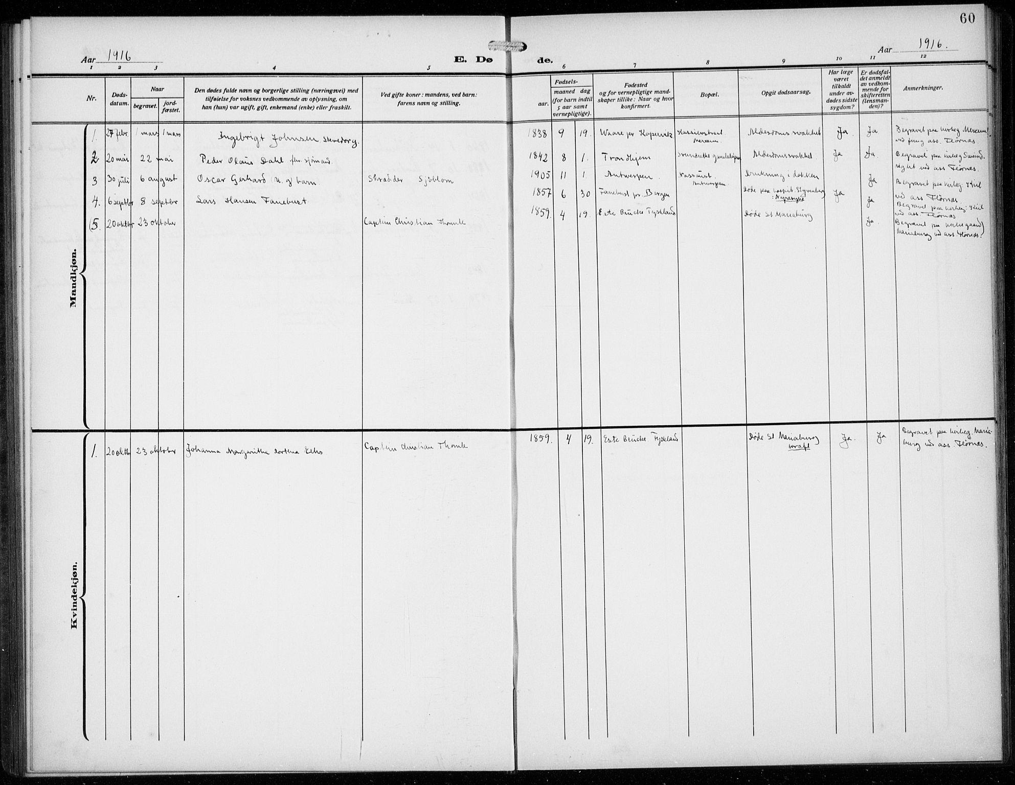 SAB, Den Norske Sjømannsmisjon i utlandet*, Ministerialbok nr. A 3, 1914-1930, s. 60