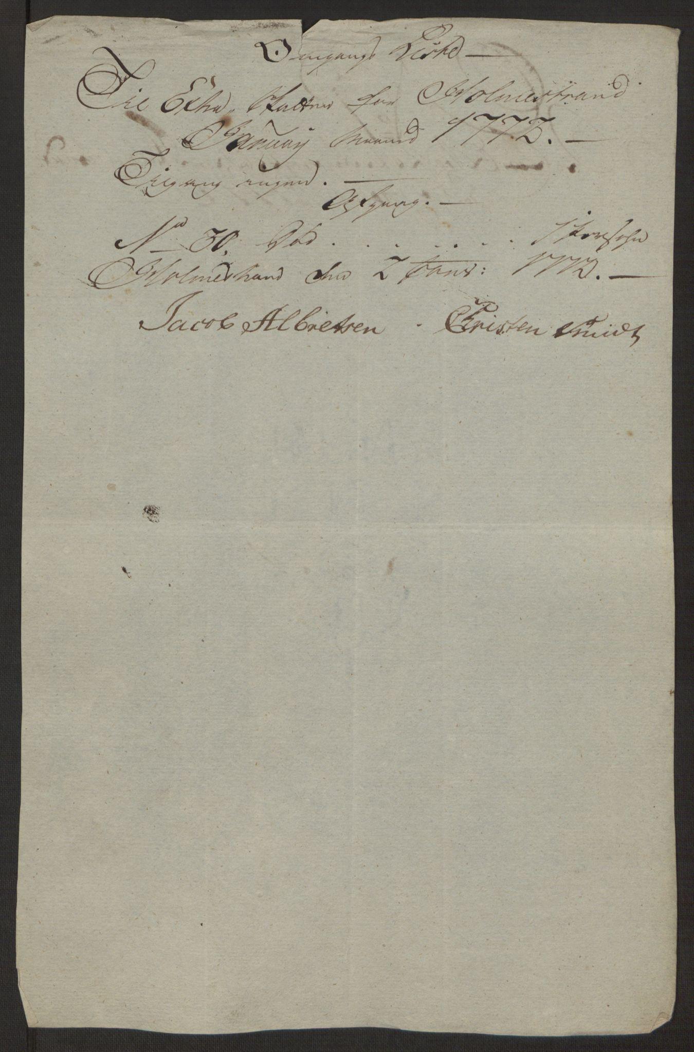 RA, Rentekammeret inntil 1814, Reviderte regnskaper, Byregnskaper, R/Rh/L0163: [H4] Kontribusjonsregnskap, 1762-1772, s. 422
