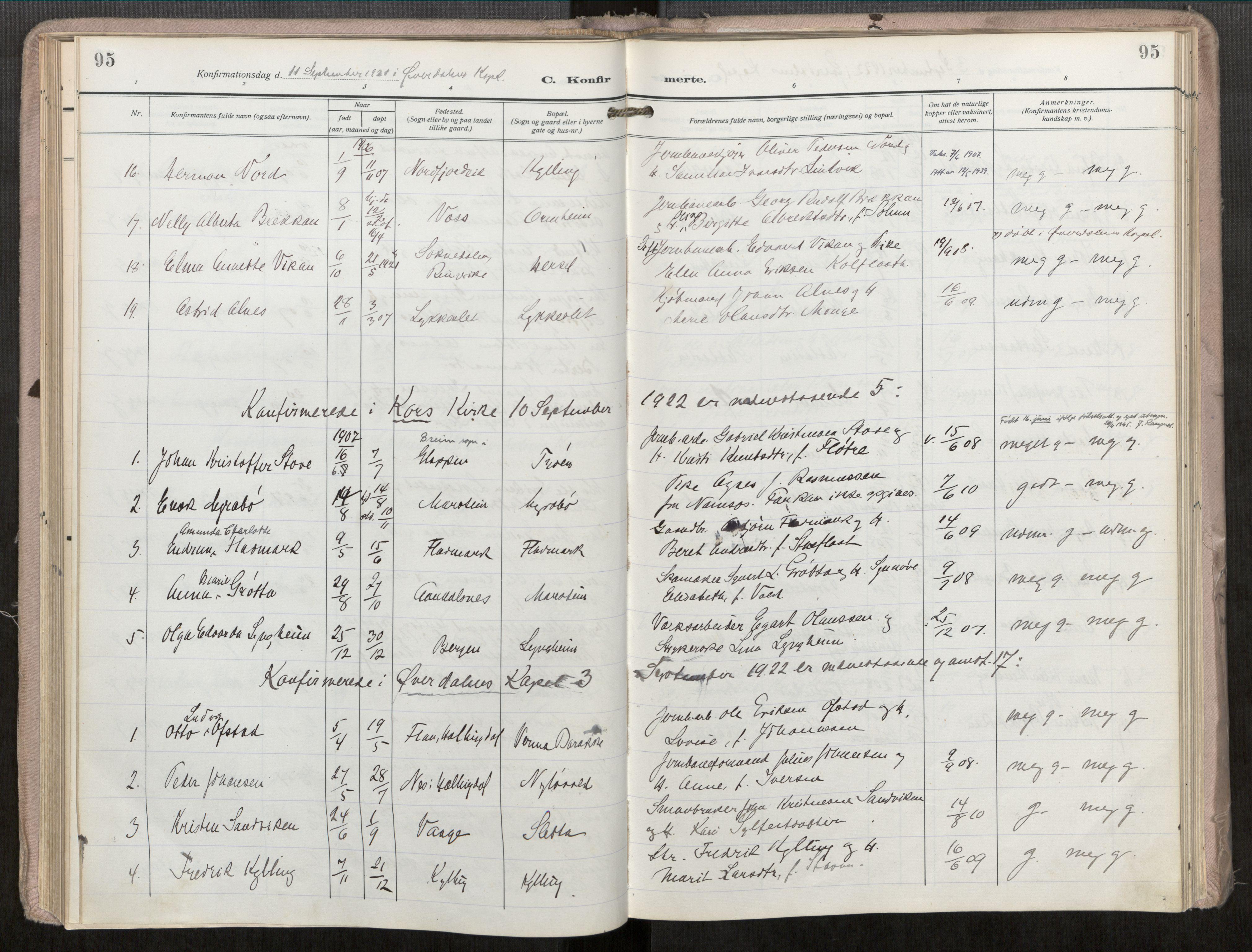 SAT, Grytten sokneprestkontor, Ministerialbok nr. 546A04, 1919-1956, s. 95
