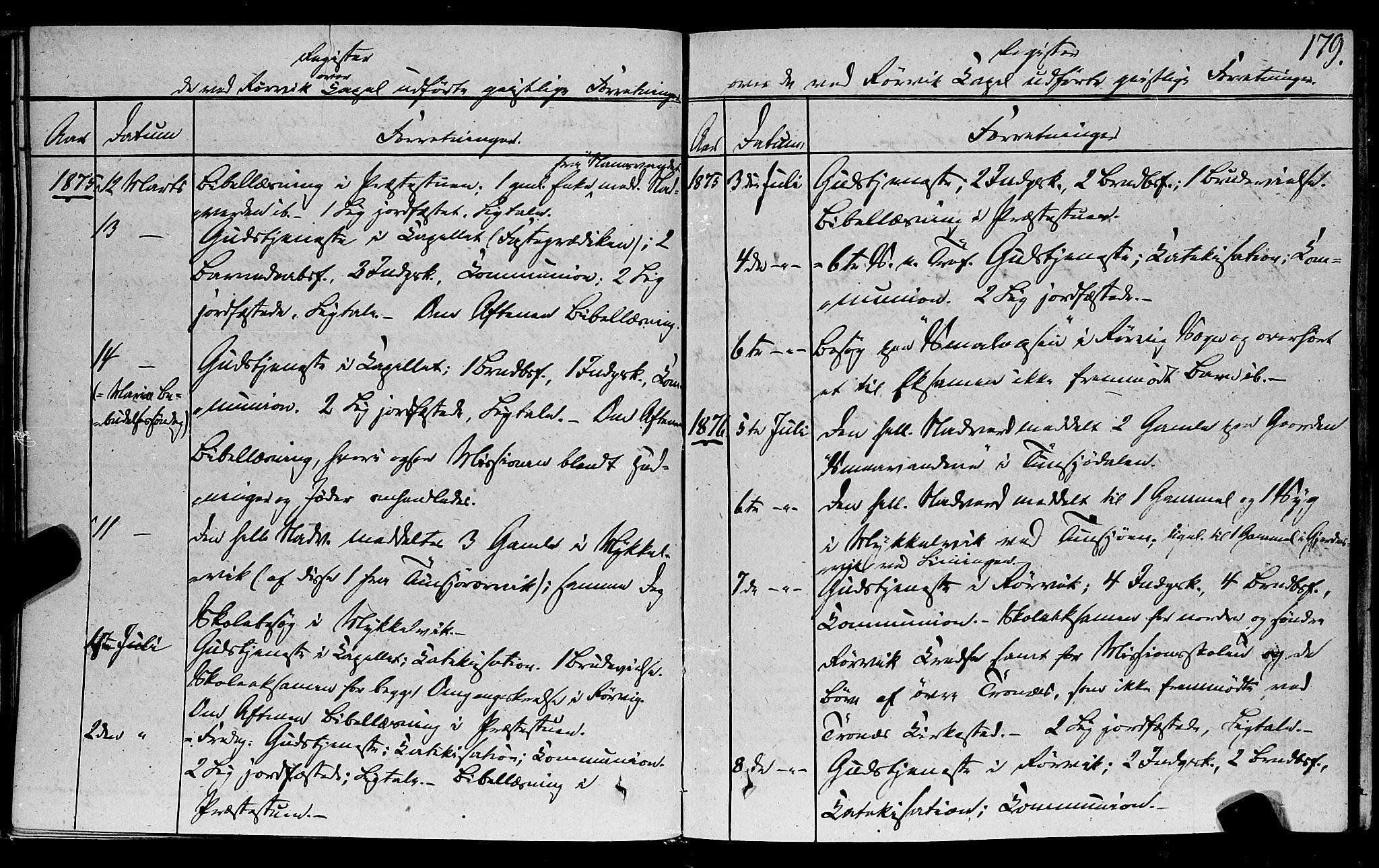 SAT, Ministerialprotokoller, klokkerbøker og fødselsregistre - Nord-Trøndelag, 762/L0538: Ministerialbok nr. 762A02 /1, 1833-1879, s. 179