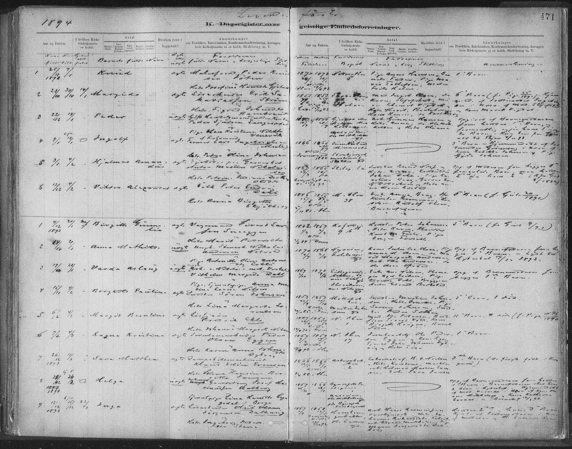 SAT, Ministerialprotokoller, klokkerbøker og fødselsregistre - Sør-Trøndelag, 603/L0163: Ministerialbok nr. 603A02, 1879-1895, s. 471