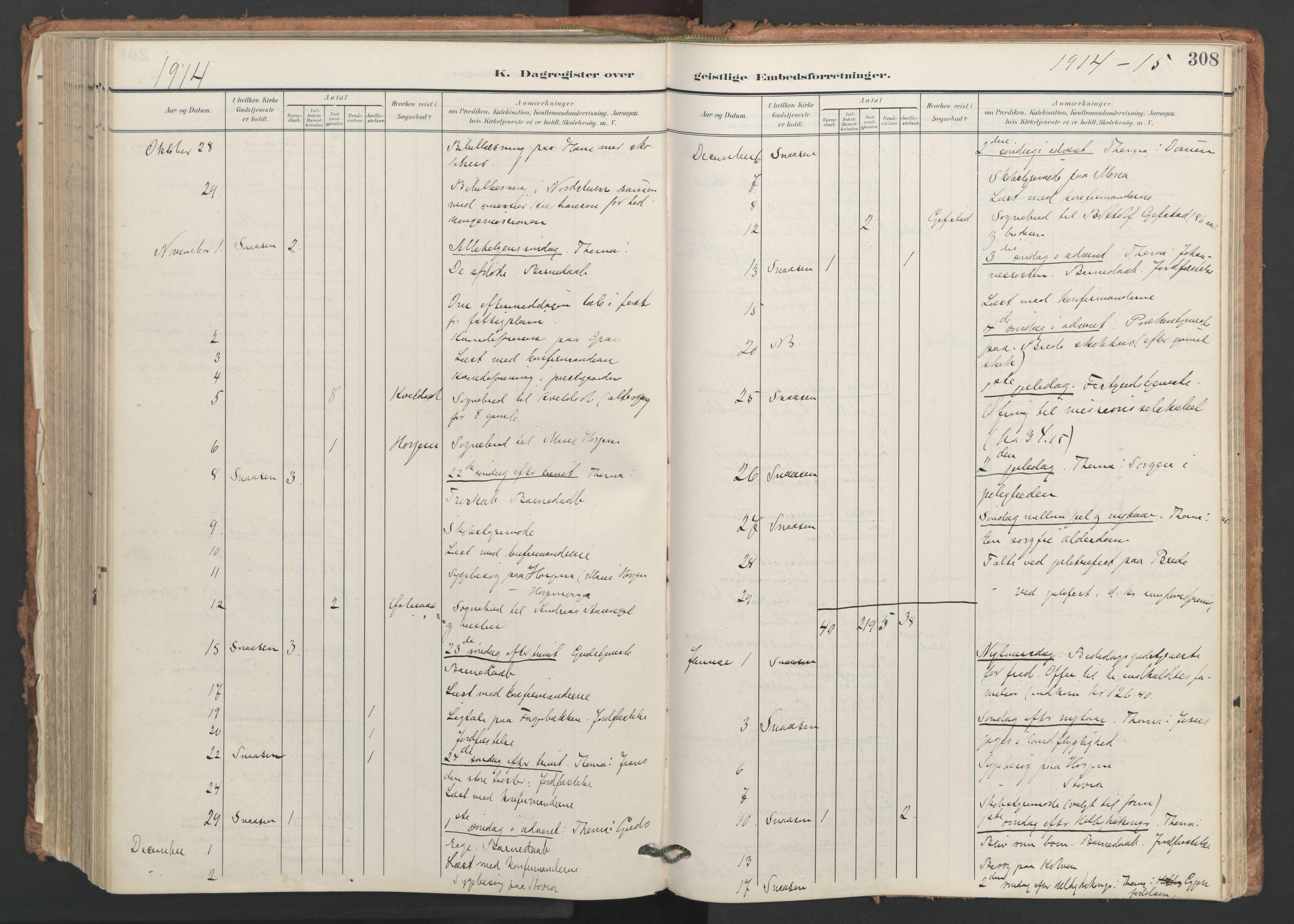 SAT, Ministerialprotokoller, klokkerbøker og fødselsregistre - Nord-Trøndelag, 749/L0477: Ministerialbok nr. 749A11, 1902-1927, s. 308