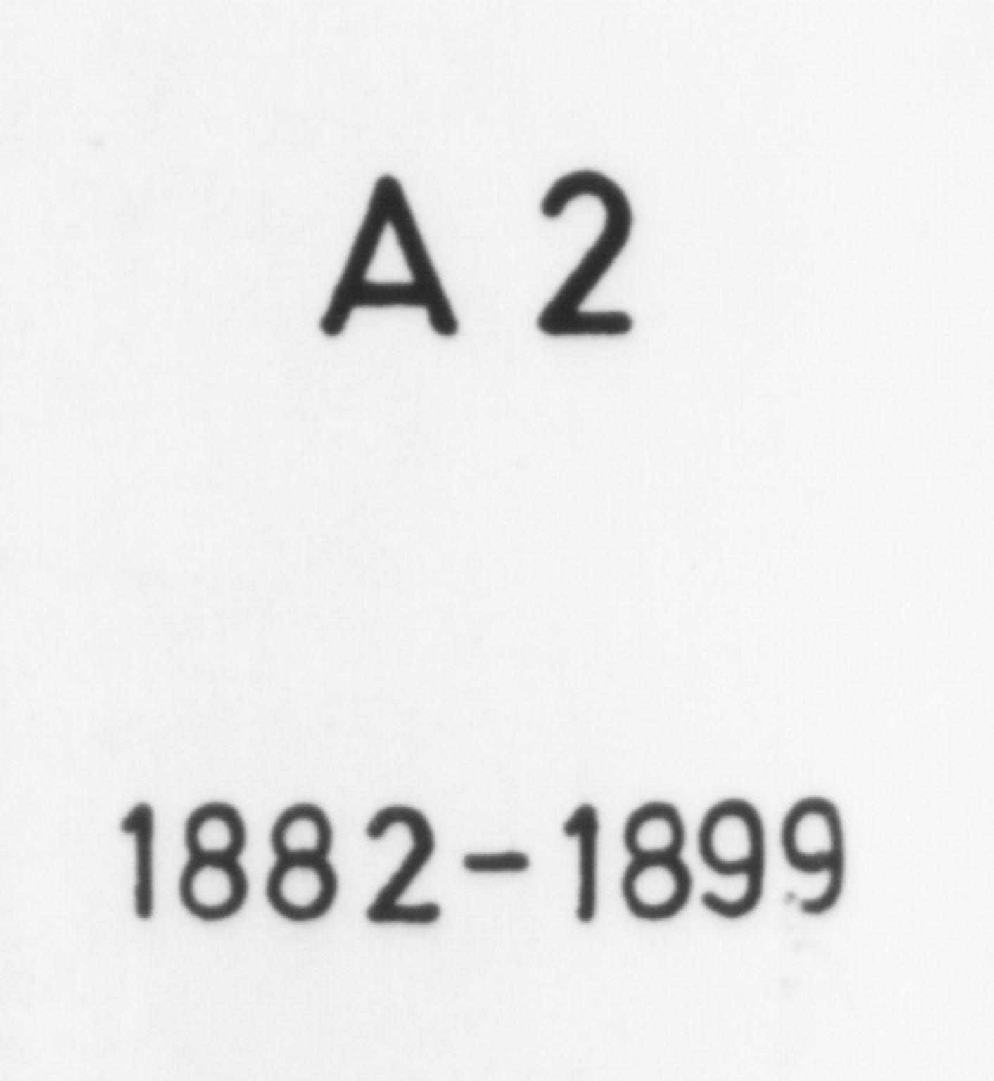 SAB, Fitjar sokneprestembete, Ministerialbok nr. A 2, 1882-1899