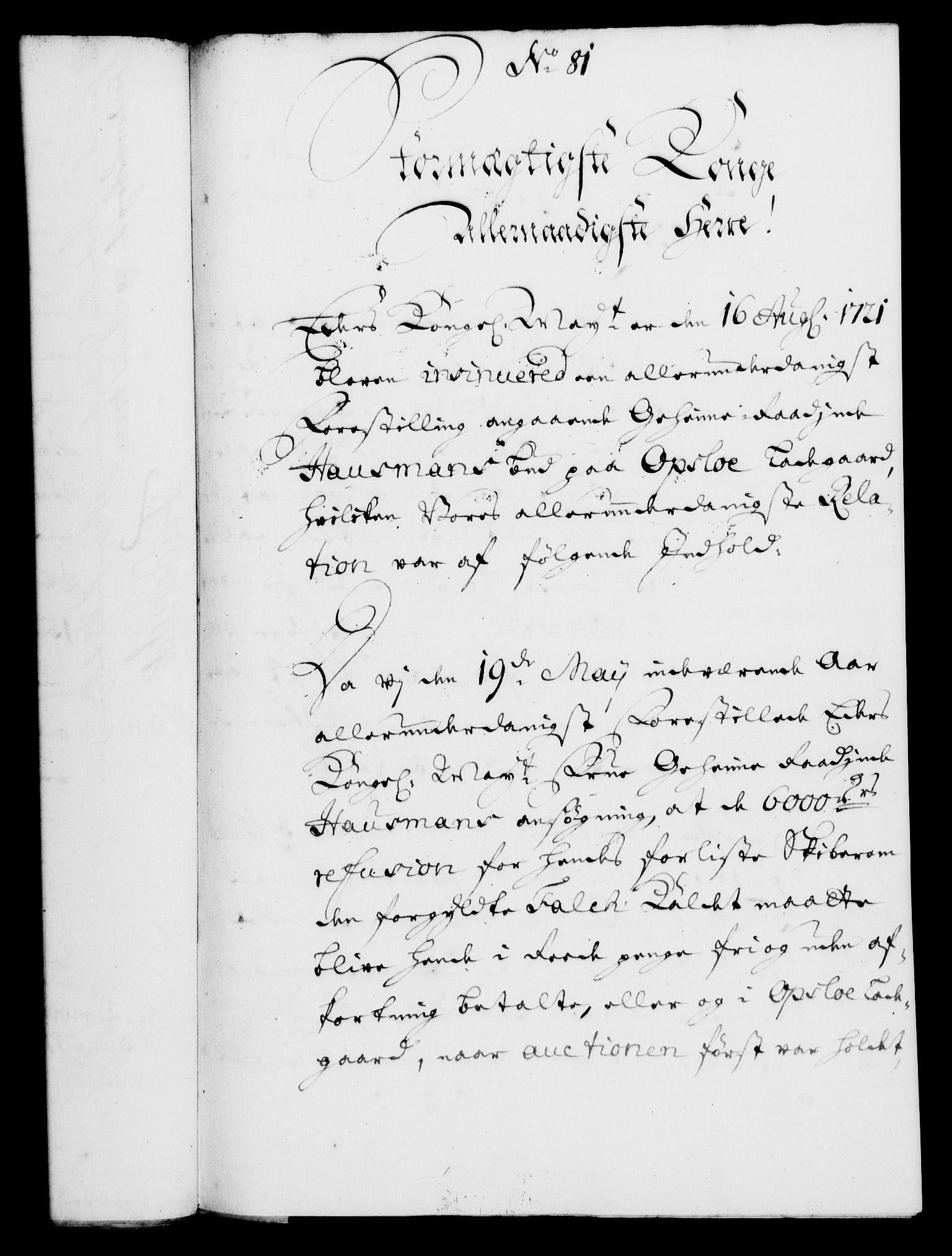 RA, Rentekammeret, Kammerkanselliet, G/Gf/Gfa/L0005: Norsk relasjons- og resolusjonsprotokoll (merket RK 52.5), 1722, s. 407