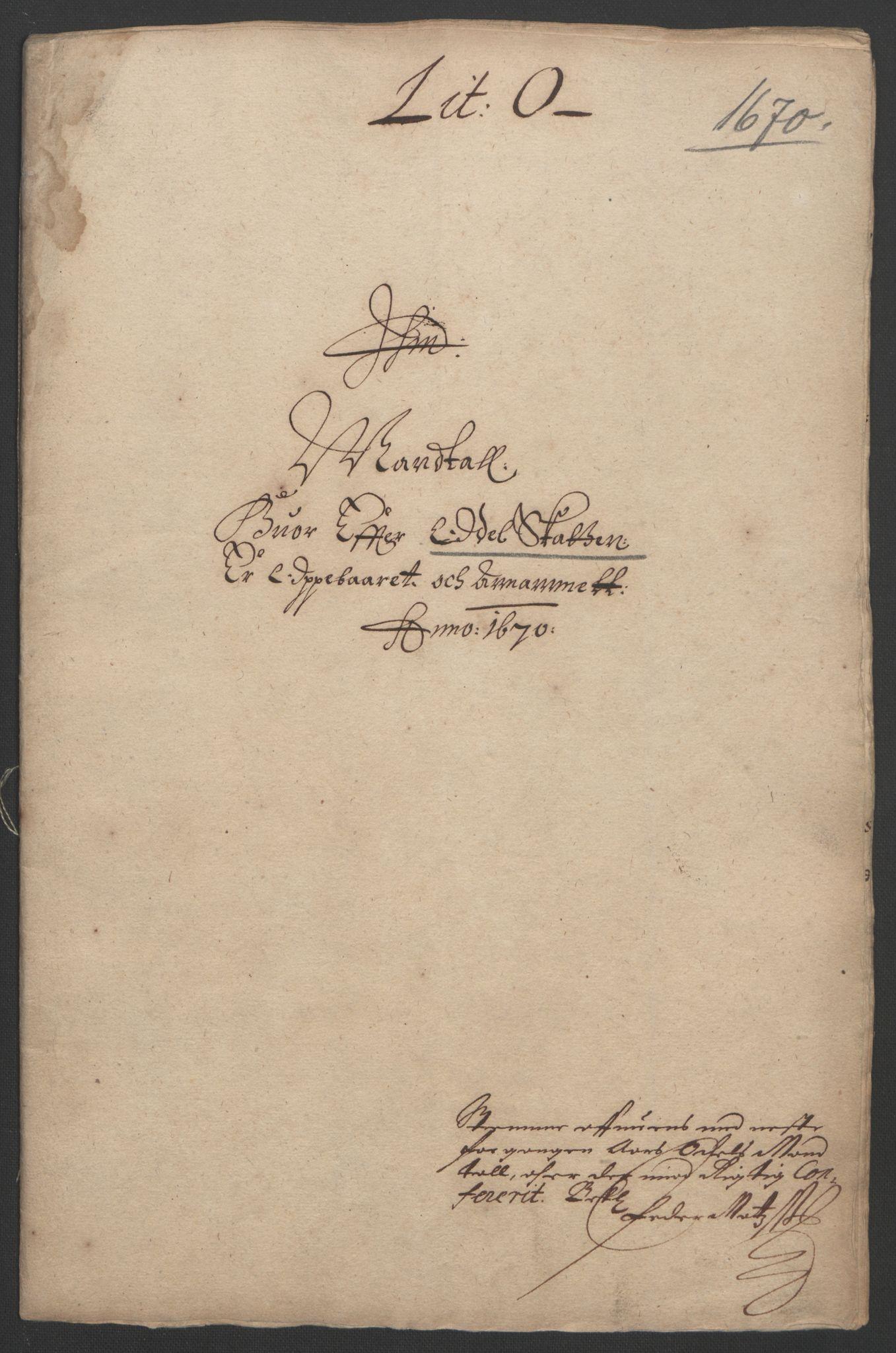 RA, Rentekammeret inntil 1814, Reviderte regnskaper, Fogderegnskap, R33/L1965: Fogderegnskap Larvik grevskap, 1669-1670, s. 184