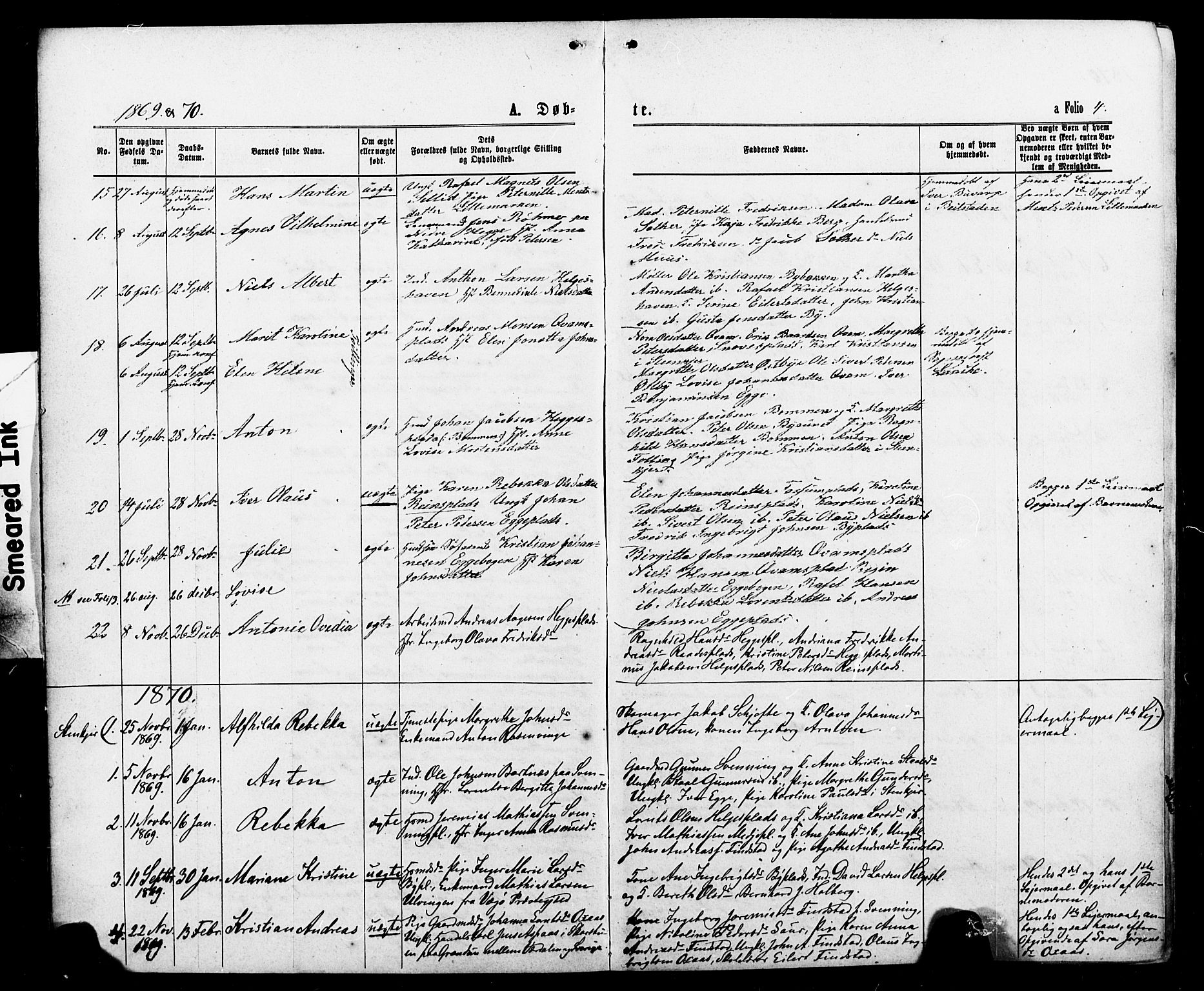 SAT, Ministerialprotokoller, klokkerbøker og fødselsregistre - Nord-Trøndelag, 740/L0380: Klokkerbok nr. 740C01, 1868-1902, s. 4