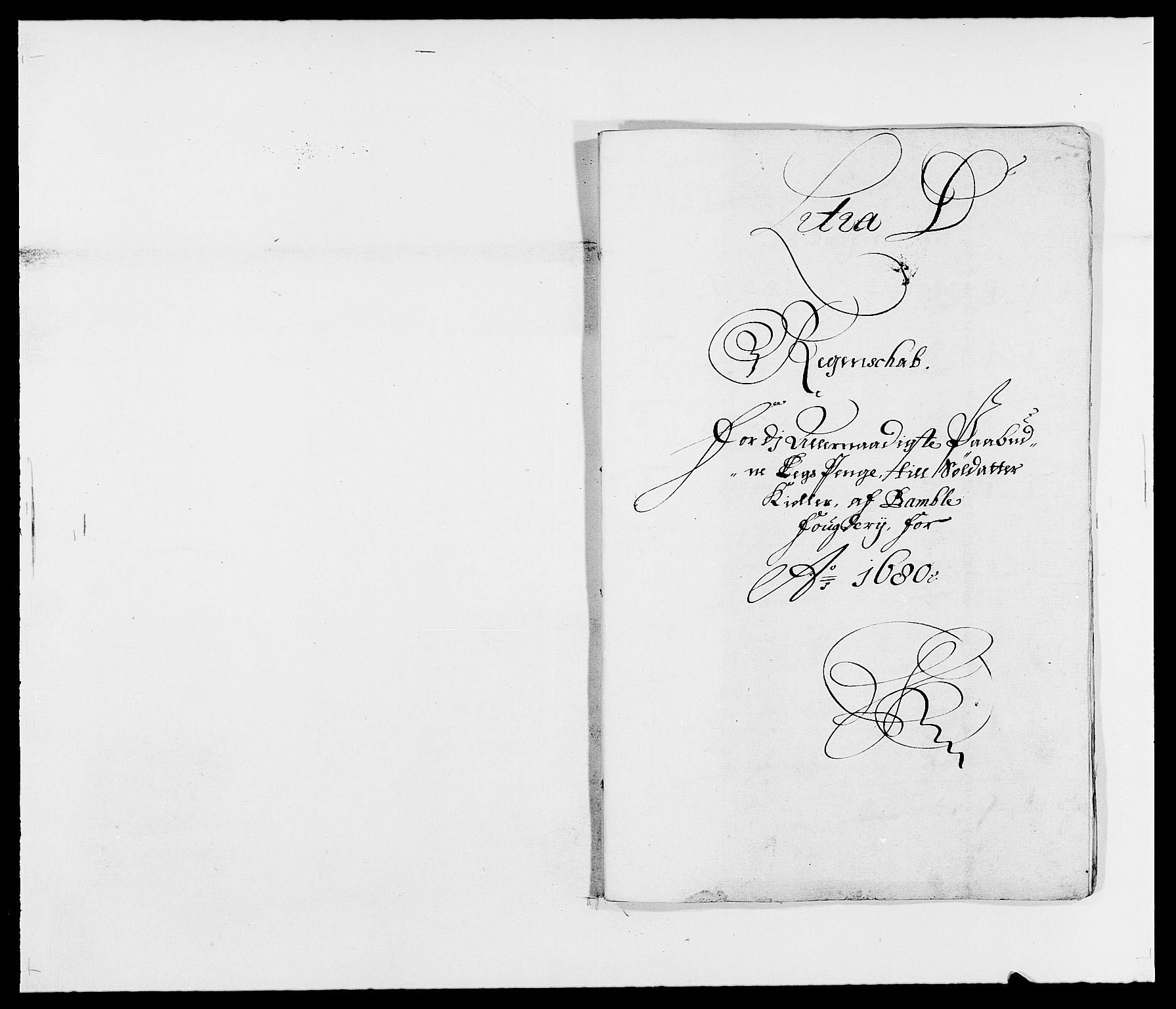 RA, Rentekammeret inntil 1814, Reviderte regnskaper, Fogderegnskap, R34/L2045: Fogderegnskap Bamble, 1680-1681, s. 97