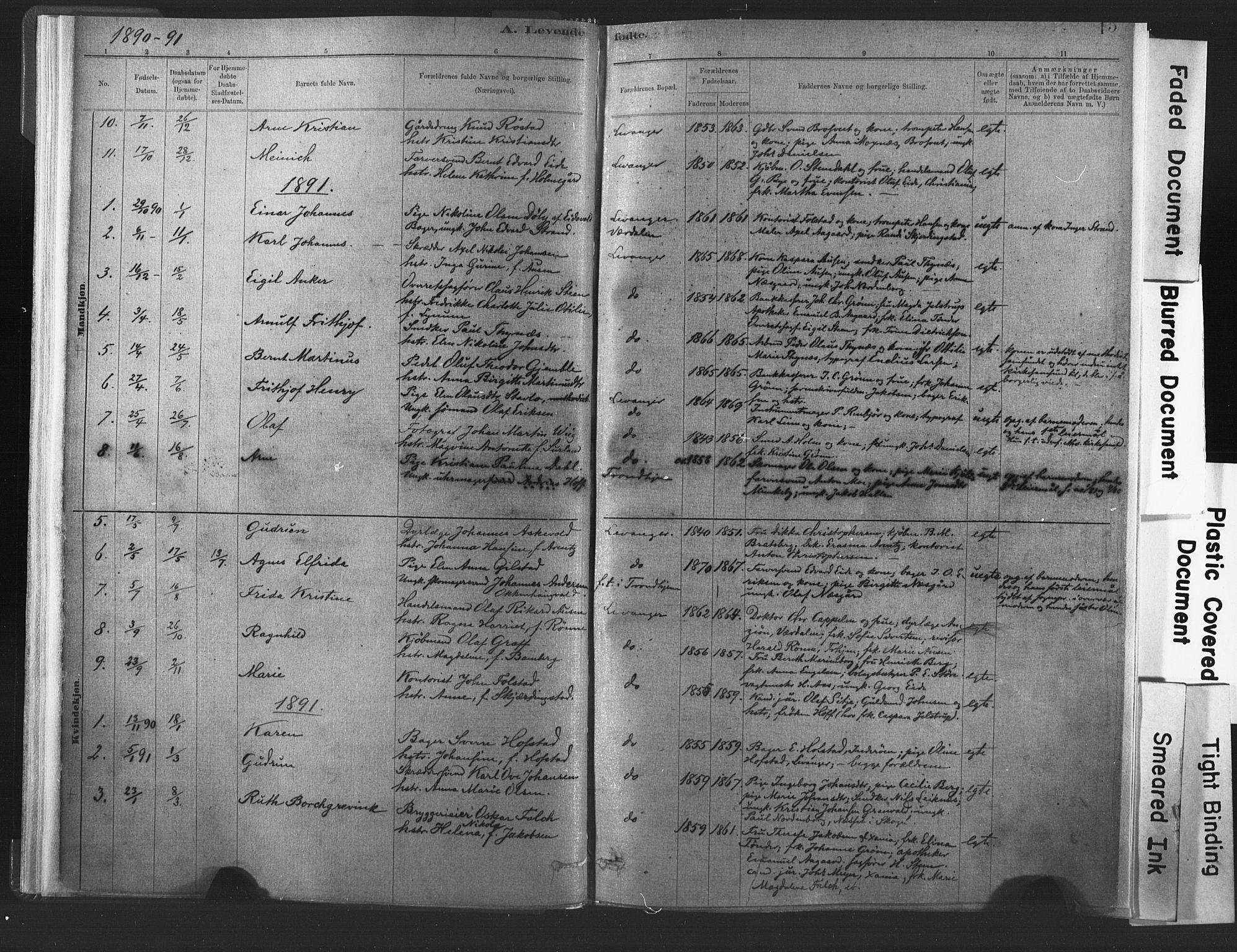 SAT, Ministerialprotokoller, klokkerbøker og fødselsregistre - Nord-Trøndelag, 720/L0189: Ministerialbok nr. 720A05, 1880-1911, s. 15