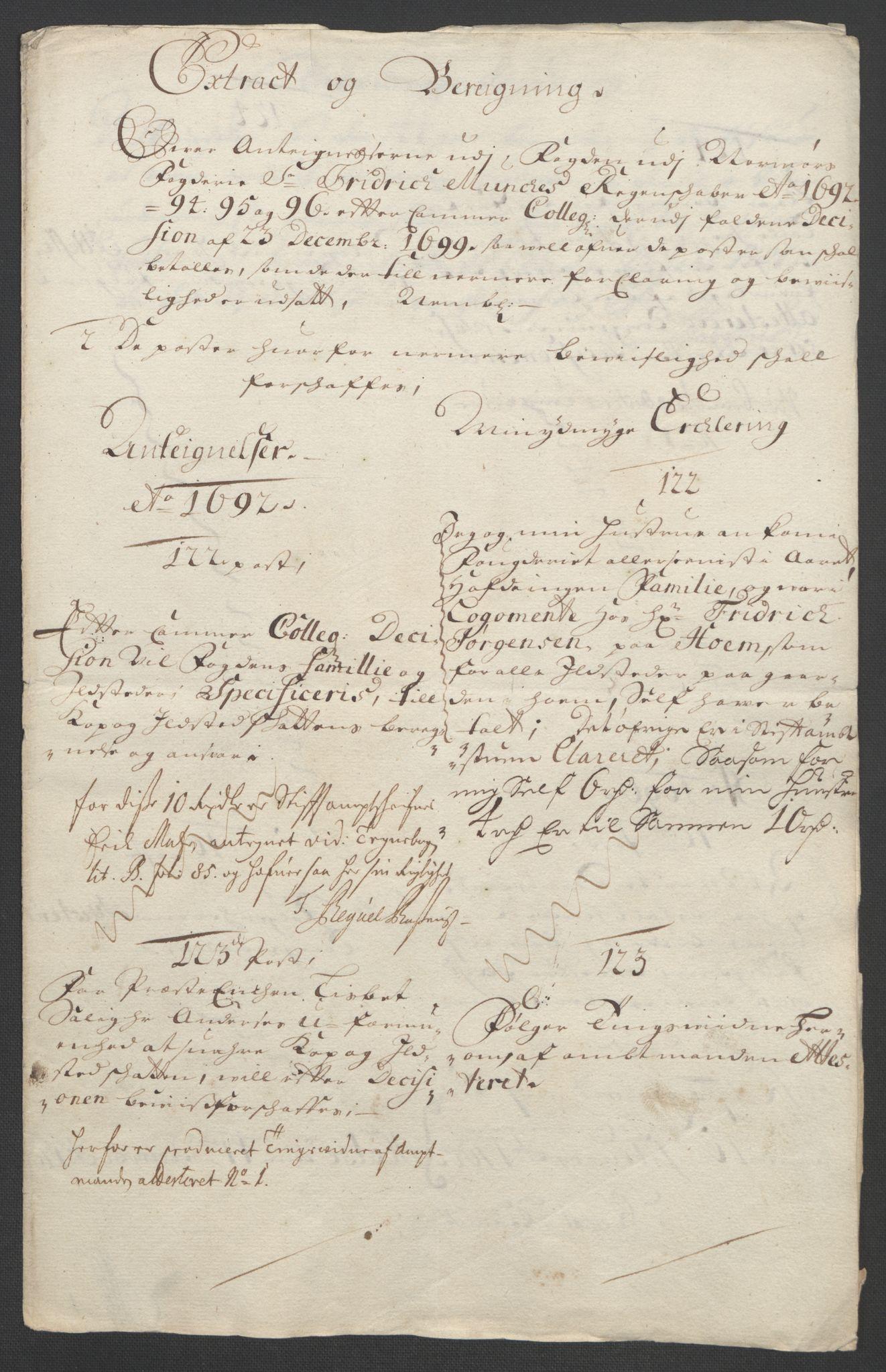 RA, Rentekammeret inntil 1814, Reviderte regnskaper, Fogderegnskap, R56/L3736: Fogderegnskap Nordmøre, 1694-1696, s. 496