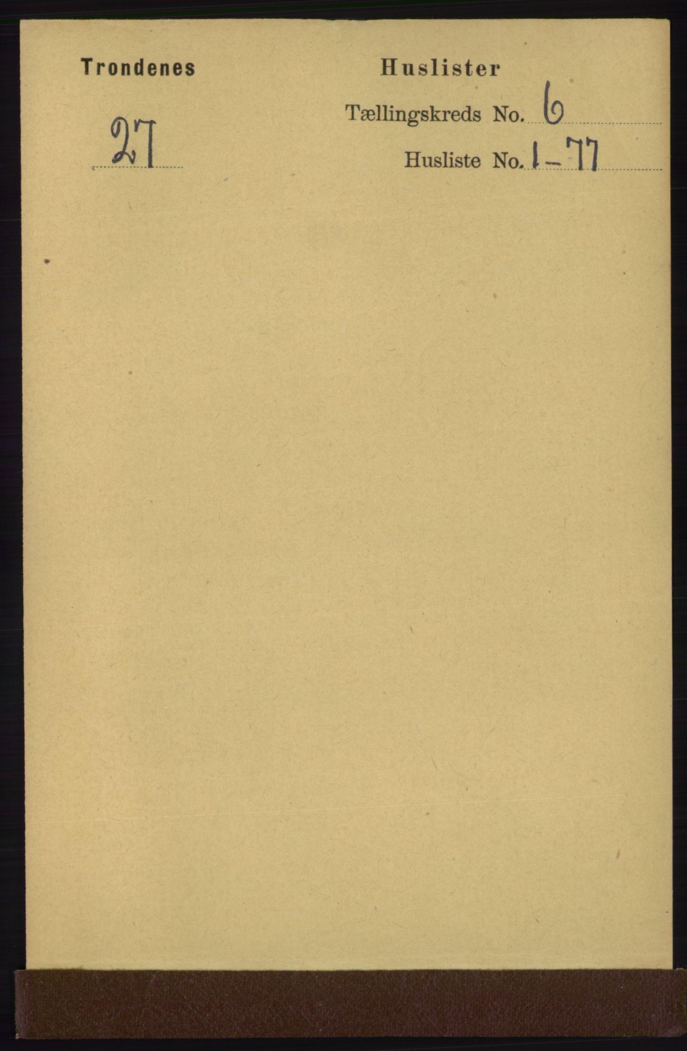 RA, Folketelling 1891 for 1914 Trondenes herred, 1891, s. 3743