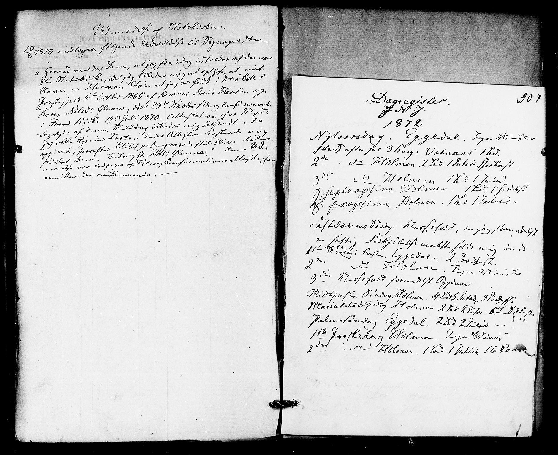 SAKO, Sigdal kirkebøker, F/Fa/L0010: Ministerialbok nr. I 10 /1, 1872-1878, s. 507