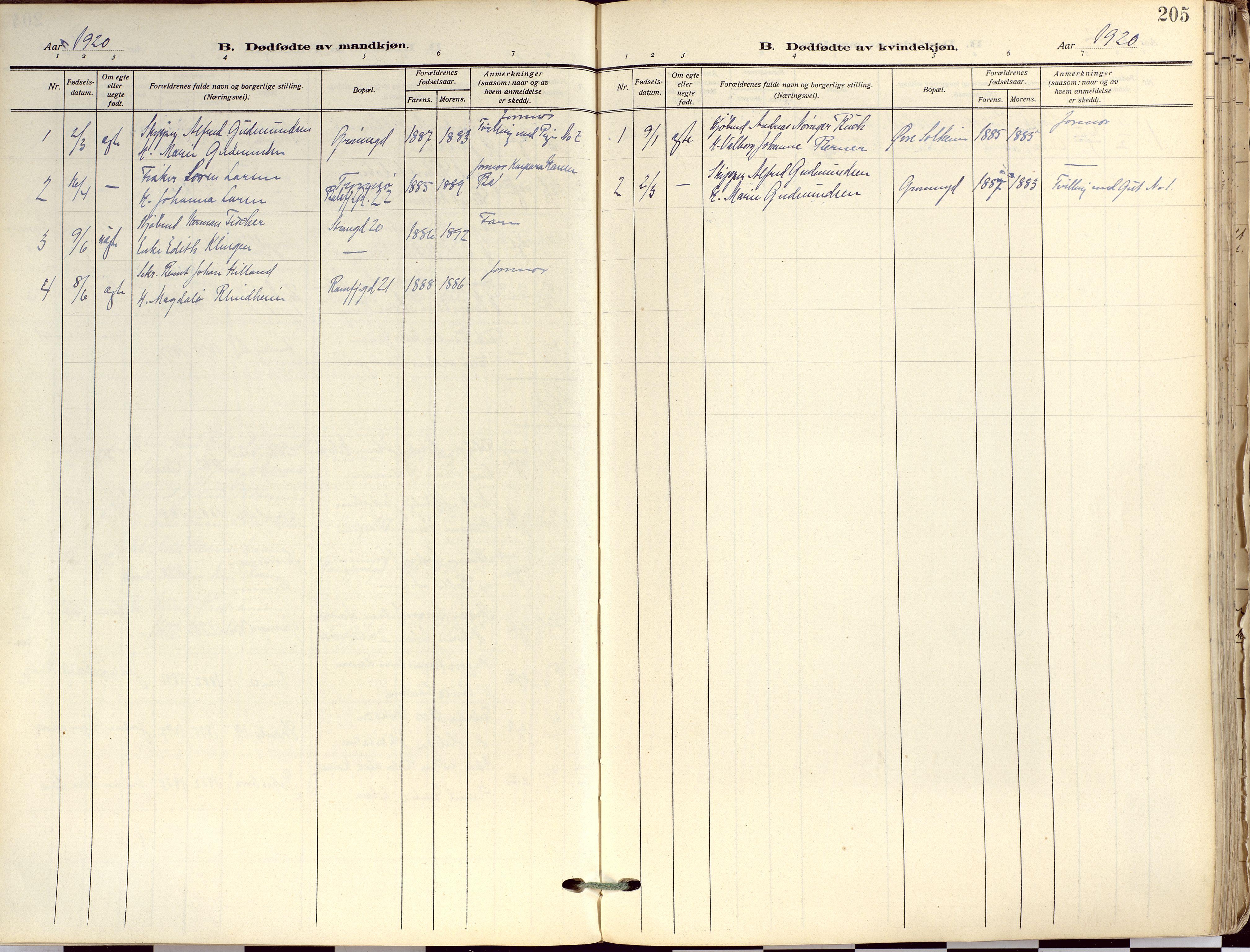 SATØ, Tromsø sokneprestkontor/stiftsprosti/domprosti, G/Ga/L0019kirke: Ministerialbok nr. 19, 1917-1927, s. 205