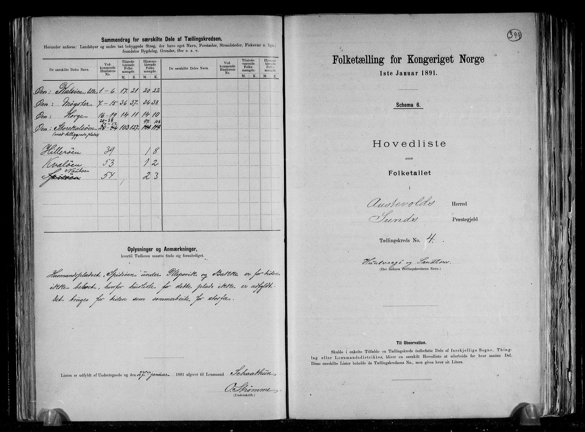 RA, Folketelling 1891 for 1244 Austevoll herred, 1891, s. 10