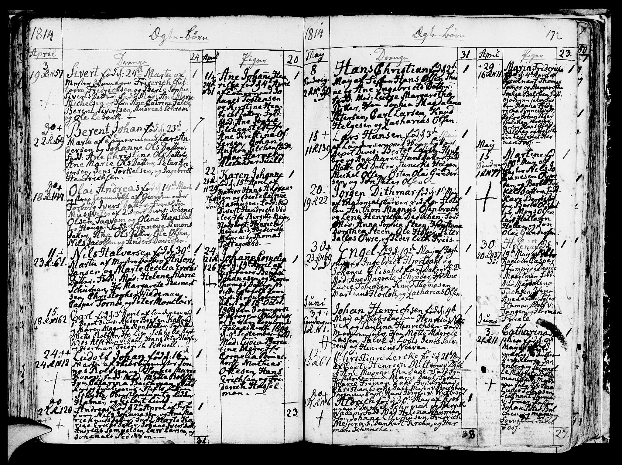 SAB, Korskirken Sokneprestembete, H/Haa/L0006: Ministerialbok nr. A 6, 1790-1820, s. 172