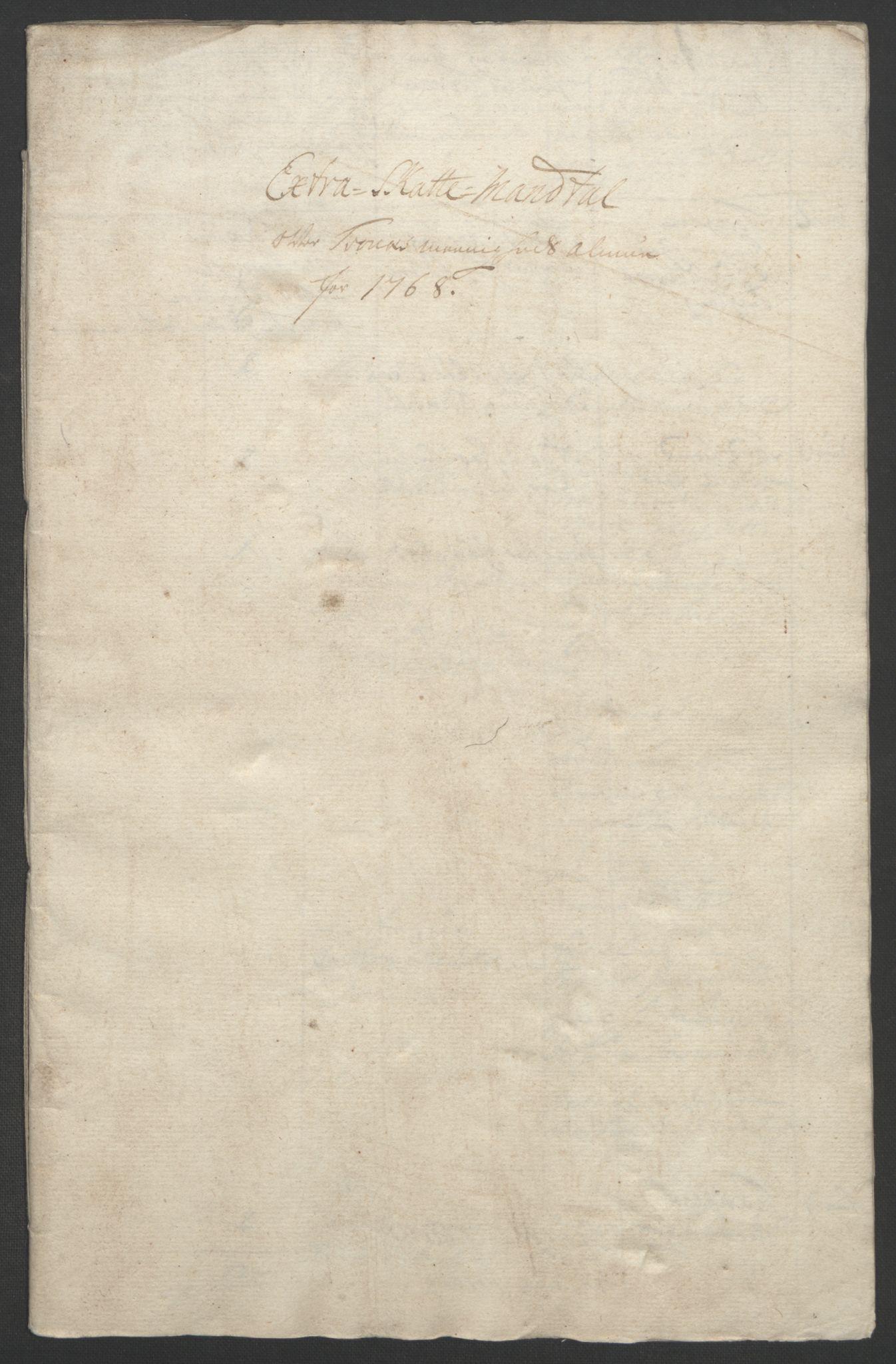 RA, Rentekammeret inntil 1814, Realistisk ordnet avdeling, Ol/L0022b: [Gg 10]: Ekstraskatten, 23.09.1762. Senja og Troms, 1765-1768, s. 211