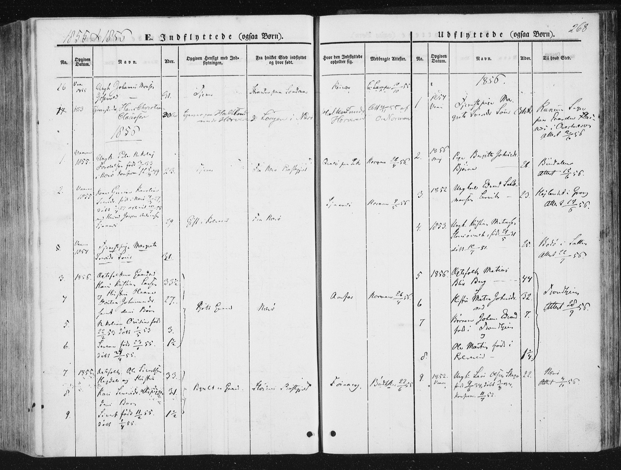 SAT, Ministerialprotokoller, klokkerbøker og fødselsregistre - Nord-Trøndelag, 780/L0640: Ministerialbok nr. 780A05, 1845-1856, s. 268