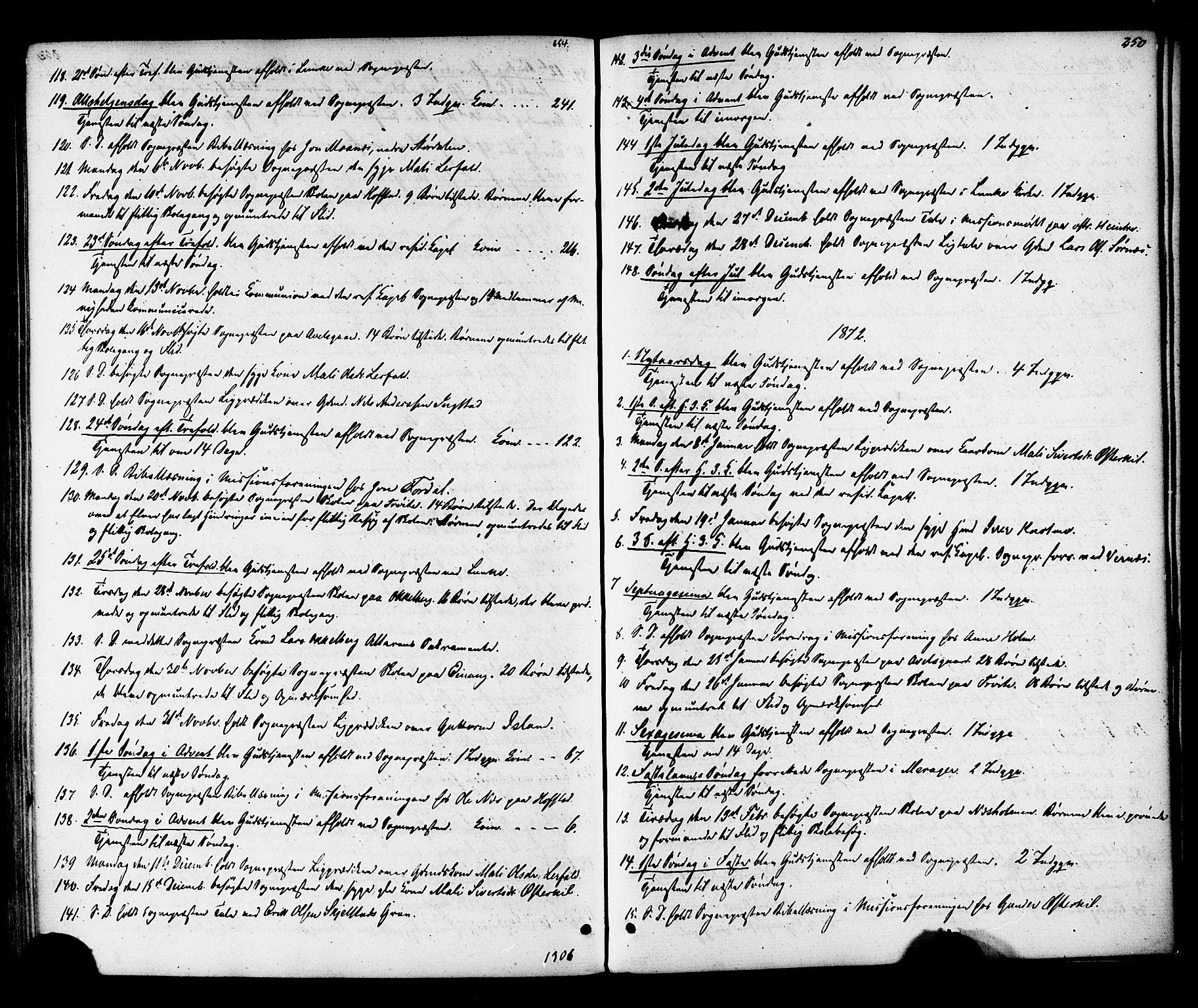 SAT, Ministerialprotokoller, klokkerbøker og fødselsregistre - Nord-Trøndelag, 703/L0029: Ministerialbok nr. 703A02, 1863-1879, s. 250