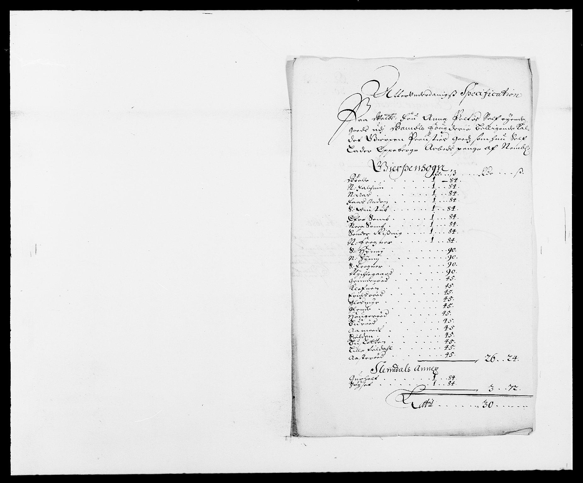 RA, Rentekammeret inntil 1814, Reviderte regnskaper, Fogderegnskap, R34/L2048: Fogderegnskap Bamble, 1685-1687, s. 185