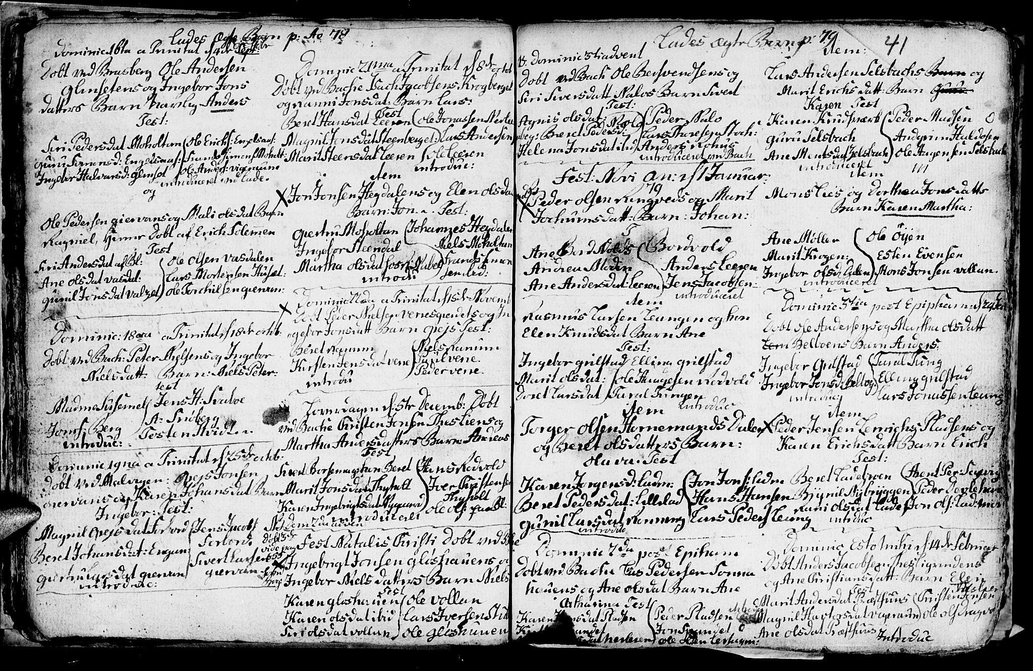 SAT, Ministerialprotokoller, klokkerbøker og fødselsregistre - Sør-Trøndelag, 606/L0305: Klokkerbok nr. 606C01, 1757-1819, s. 41