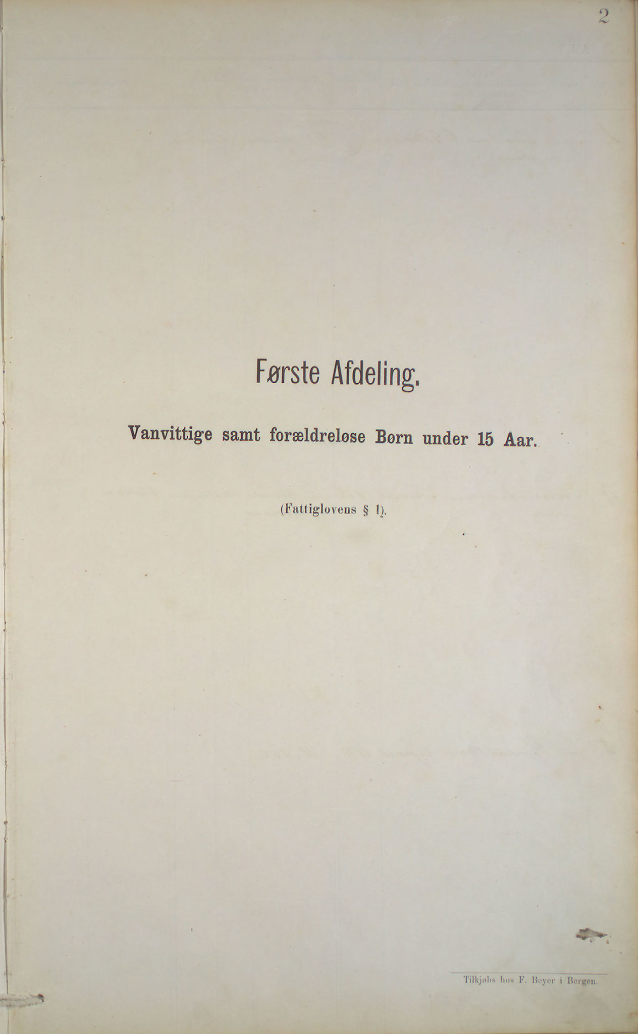 BBA, Bergen fattigvesen, 1878-1885, s. 2