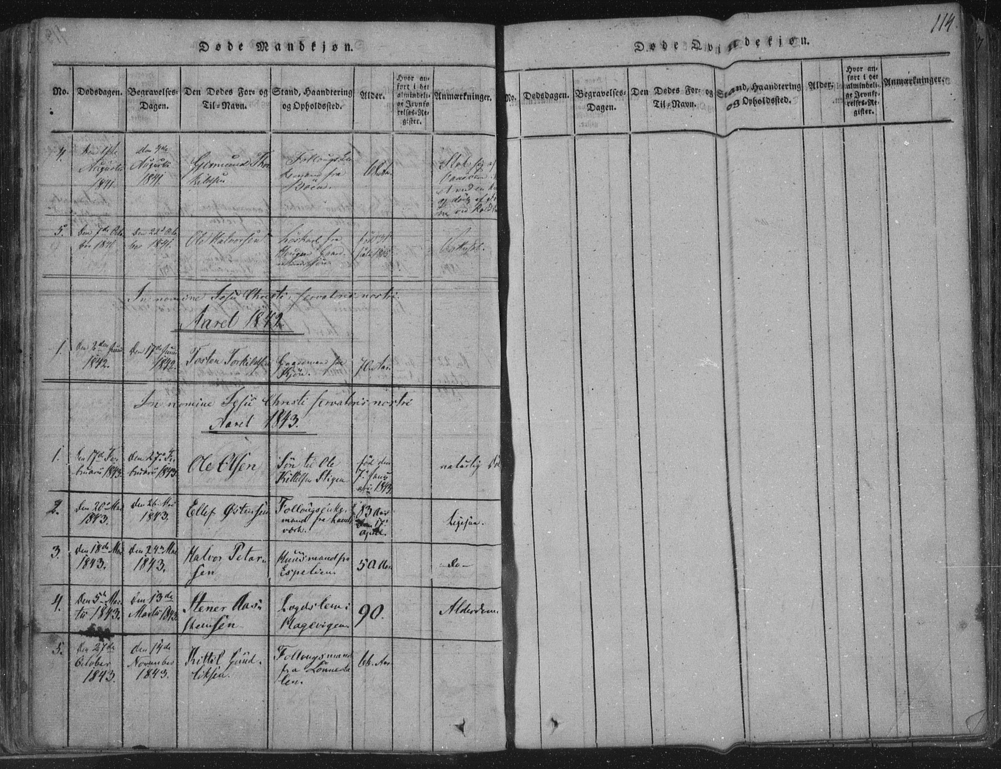 SAKO, Hjartdal kirkebøker, F/Fc/L0001: Ministerialbok nr. III 1, 1815-1843, s. 114