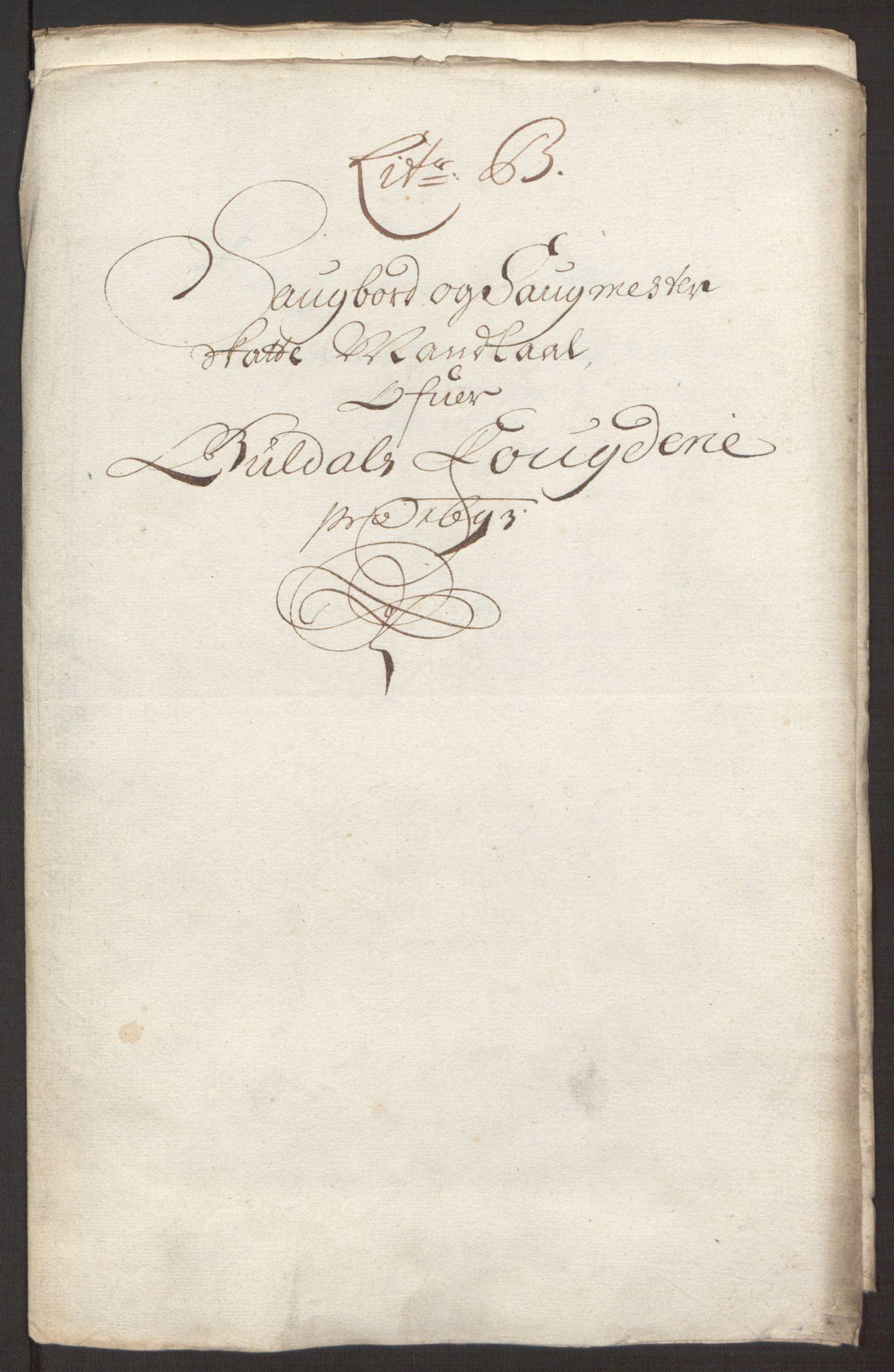 RA, Rentekammeret inntil 1814, Reviderte regnskaper, Fogderegnskap, R59/L3943: Fogderegnskap Gauldal, 1693, s. 76