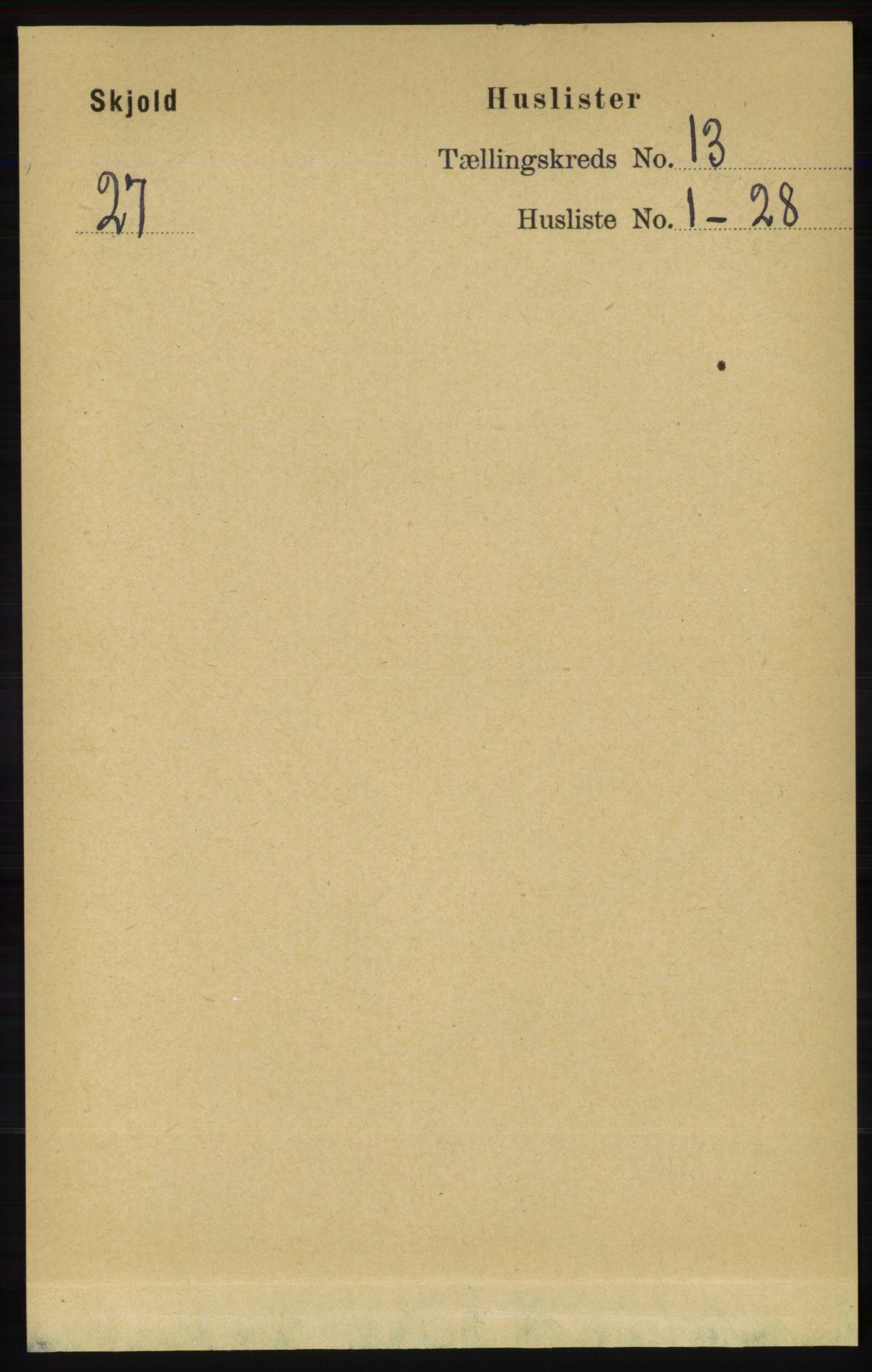 RA, Folketelling 1891 for 1154 Skjold herred, 1891, s. 2370