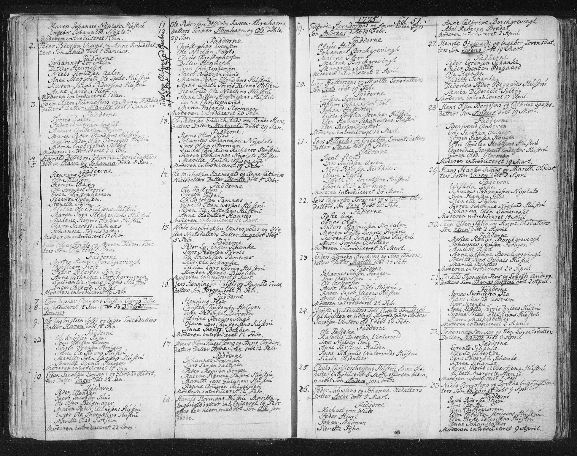 SAT, Ministerialprotokoller, klokkerbøker og fødselsregistre - Sør-Trøndelag, 681/L0926: Ministerialbok nr. 681A04, 1767-1797, s. 51