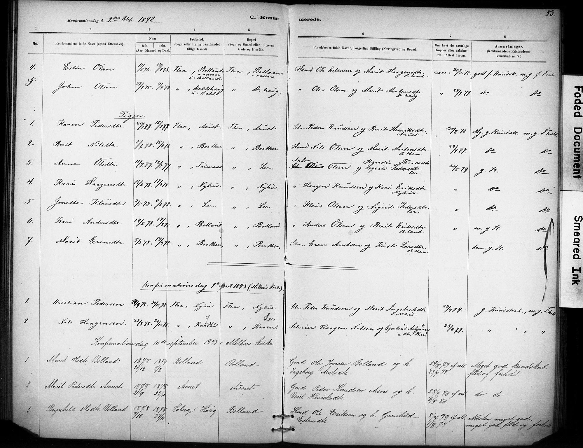 SAT, Ministerialprotokoller, klokkerbøker og fødselsregistre - Sør-Trøndelag, 693/L1119: Ministerialbok nr. 693A01, 1887-1905, s. 53