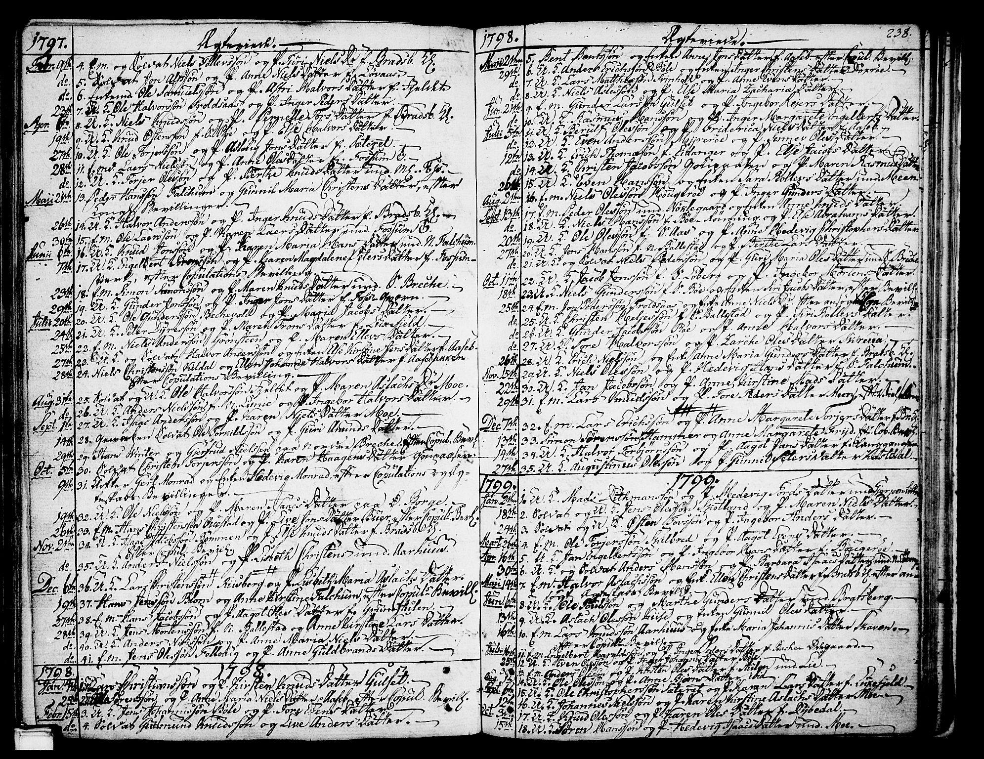 SAKO, Gjerpen kirkebøker, F/Fa/L0003: Ministerialbok nr. 3, 1796-1814, s. 238